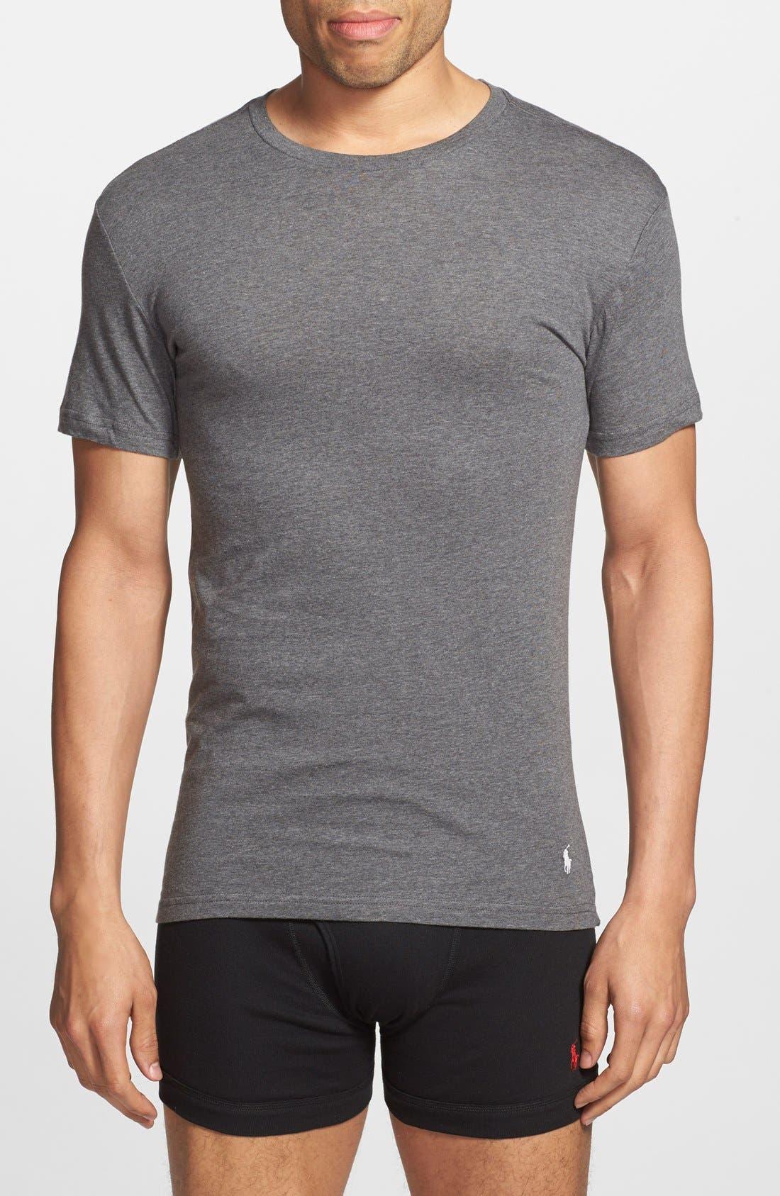 3-Pack Slim Fit T-Shirt,                         Main,                         color, BLACK/ GREY/ CHARCOAL