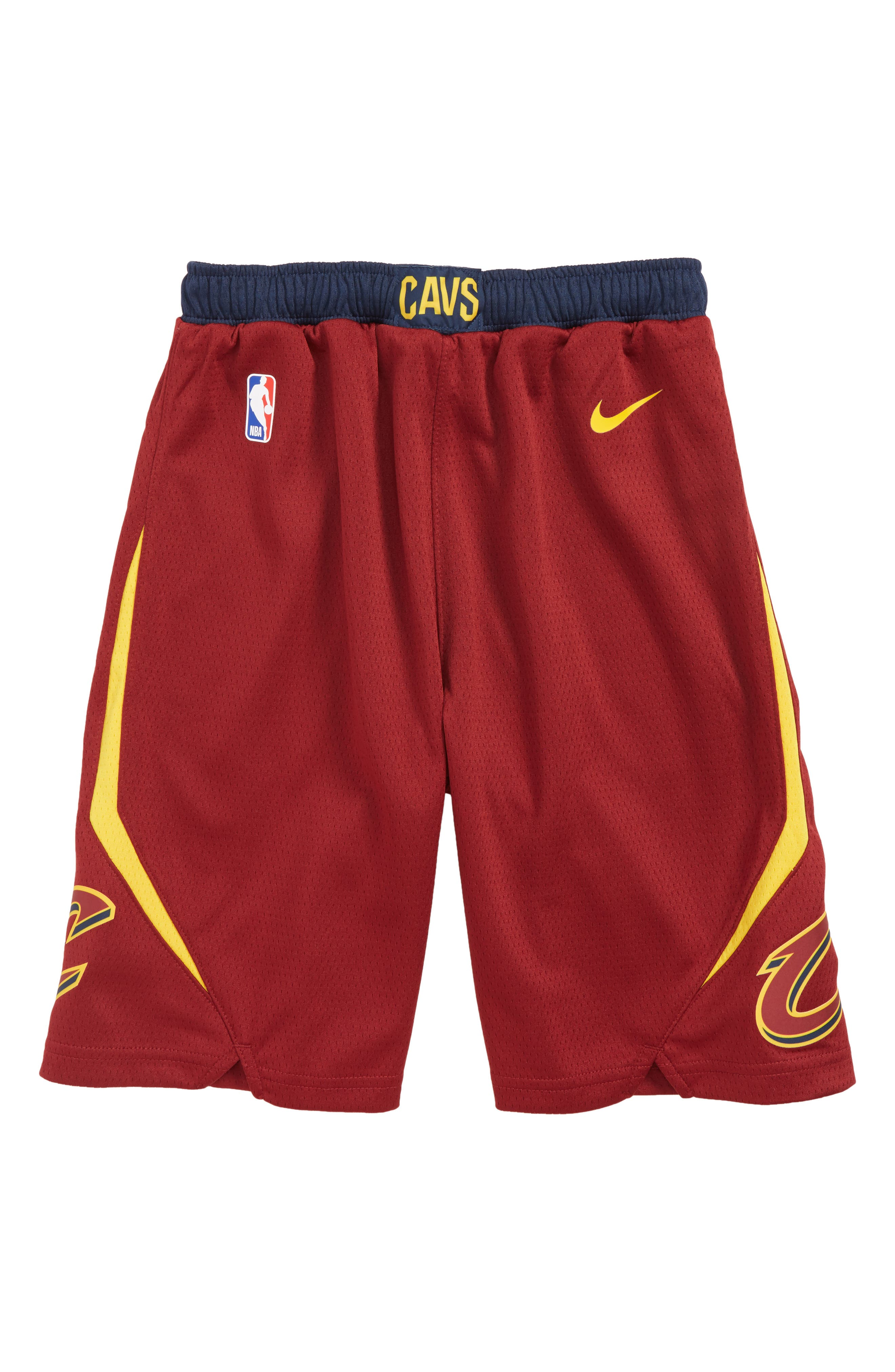 Cleveland Cavaliers Basketball Shorts, Main, color, TEAM RED