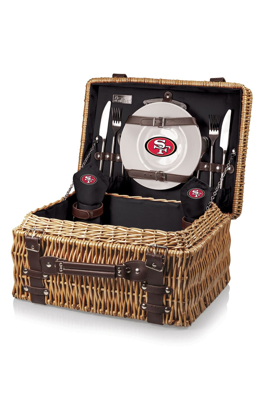 'NFL - Champion' Wicker Picnic Basket,                             Alternate thumbnail 2, color,                             020