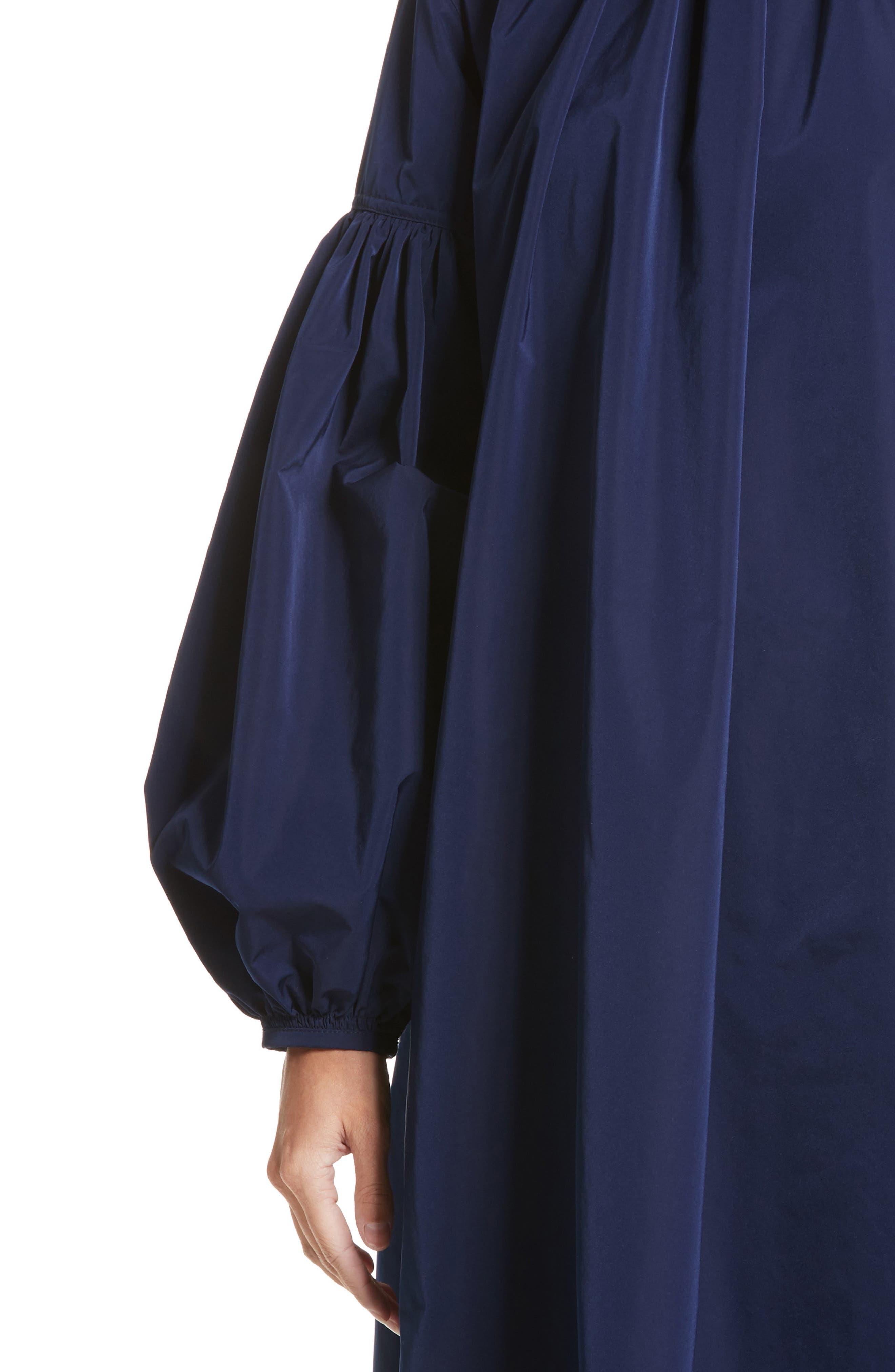 Ruched Sleeve Taffeta Dress,                             Alternate thumbnail 4, color,                             404