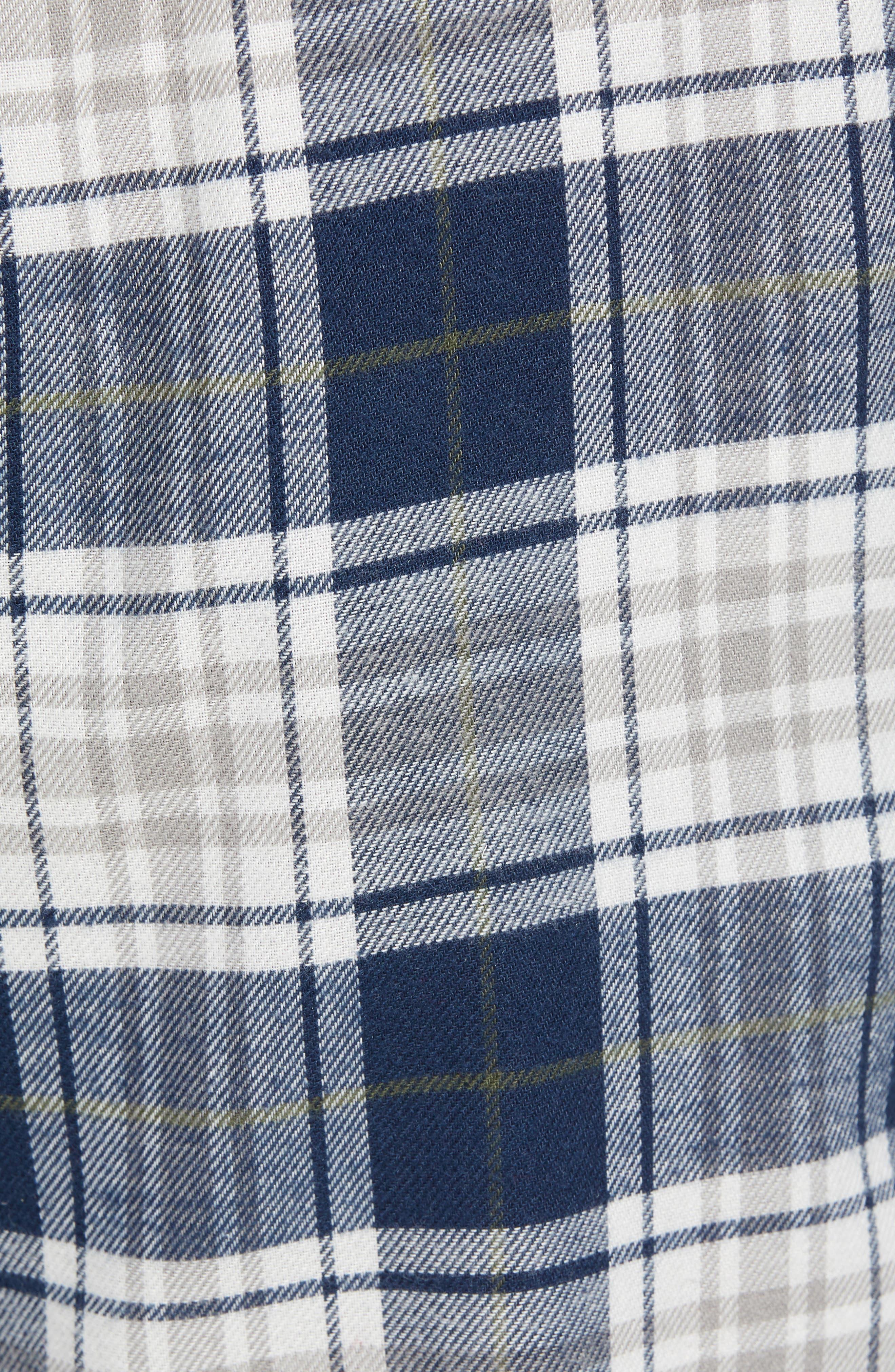 Steiner Pajama Set,                             Alternate thumbnail 5, color,                             NAVY/ GREY HEATHER