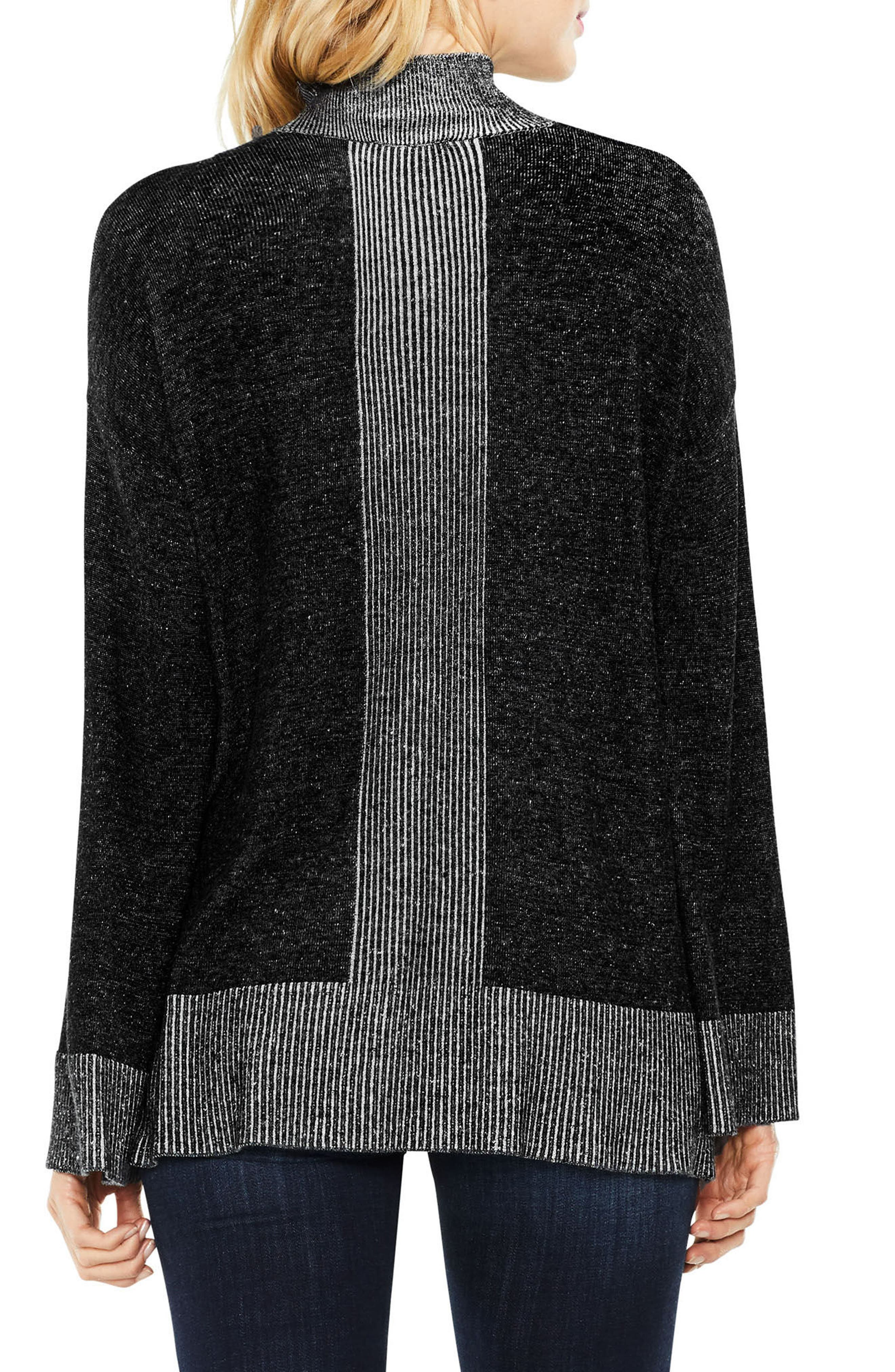 Two by Vince Camuto Ribbed Contrast Sweater,                             Alternate thumbnail 3, color,