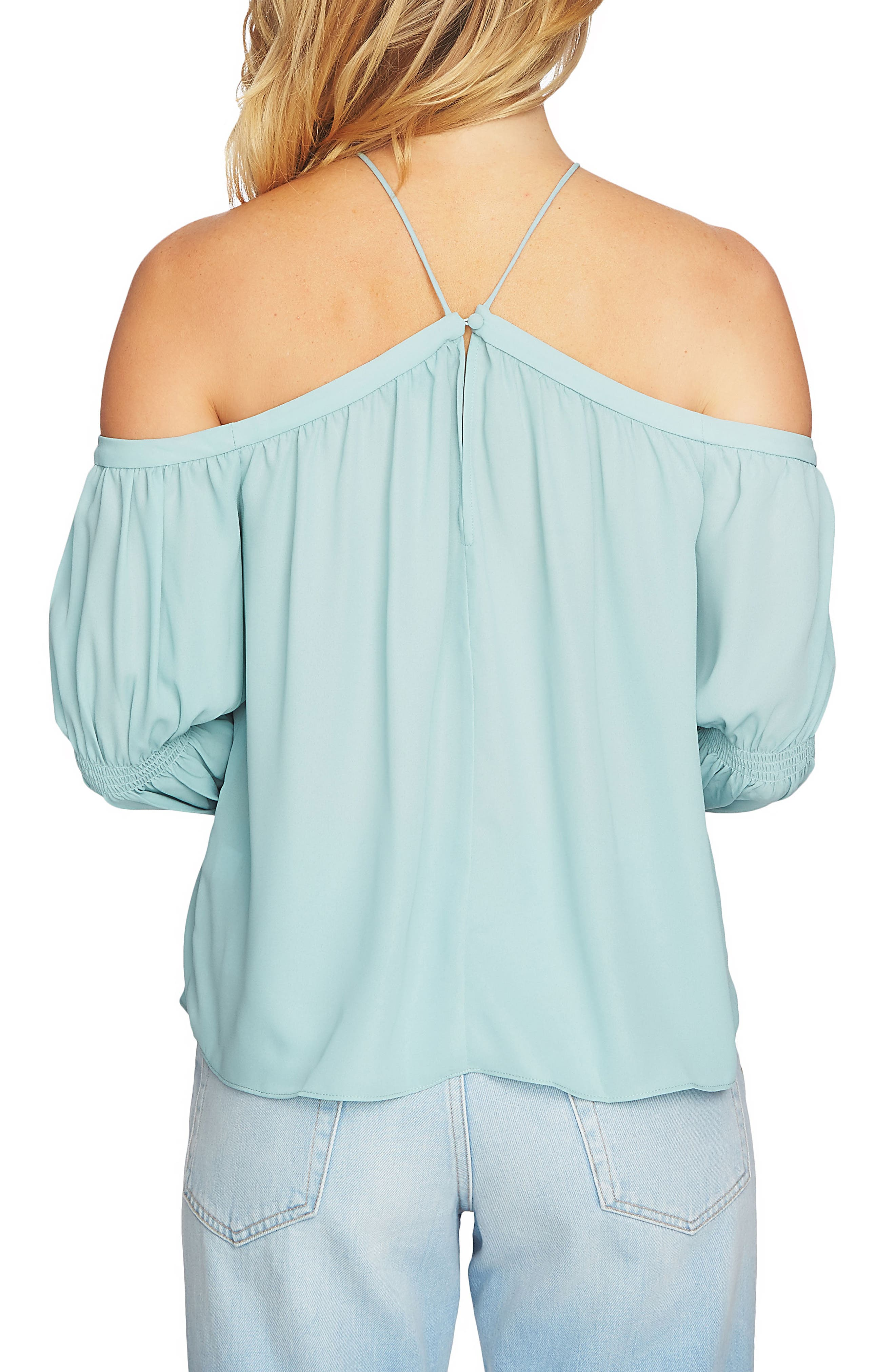 Off the Shoulder Blouse,                             Alternate thumbnail 4, color,