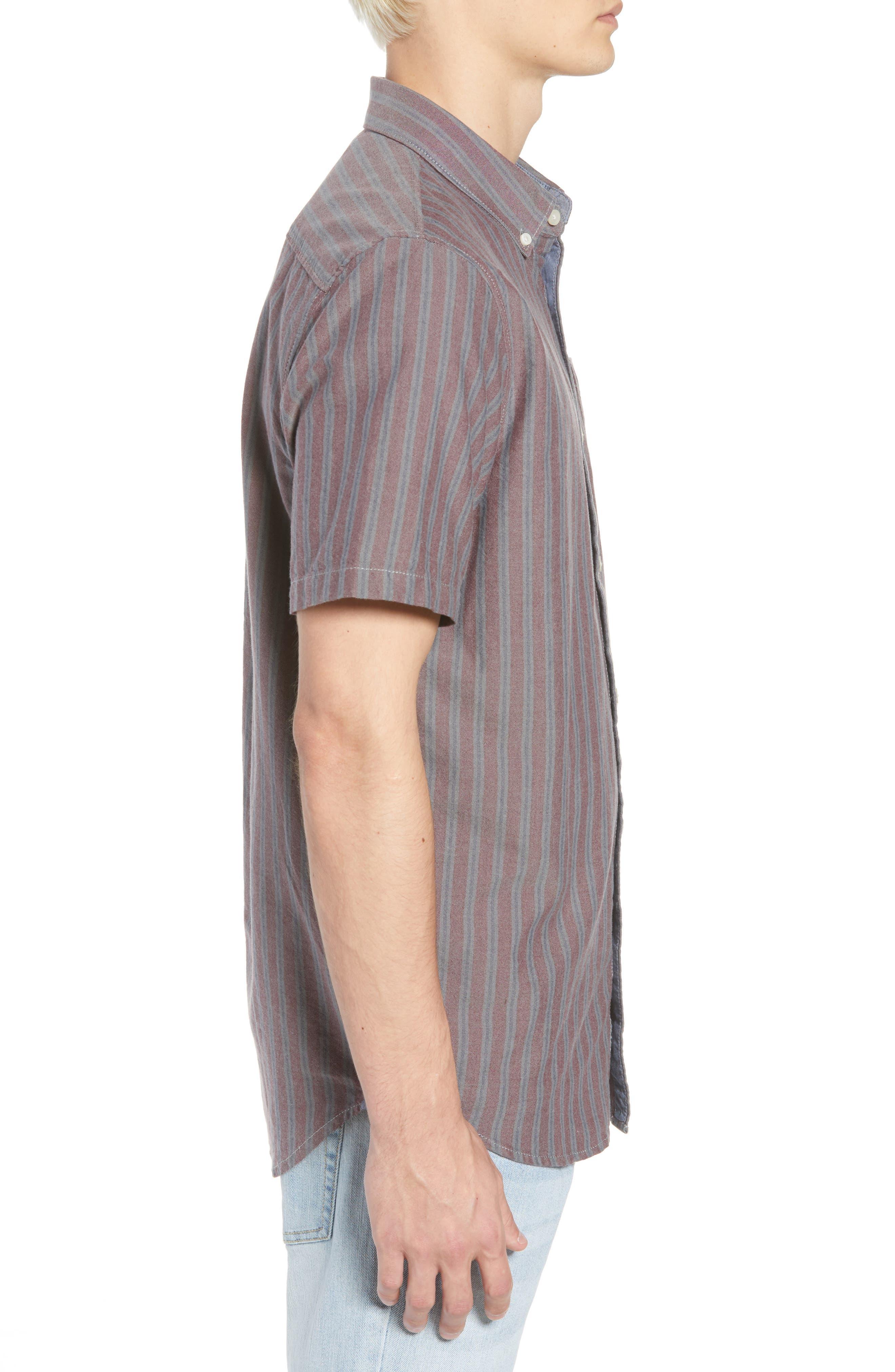 Houser Woven Shirt,                             Alternate thumbnail 3, color,                             PORT ROYALE STRIPE