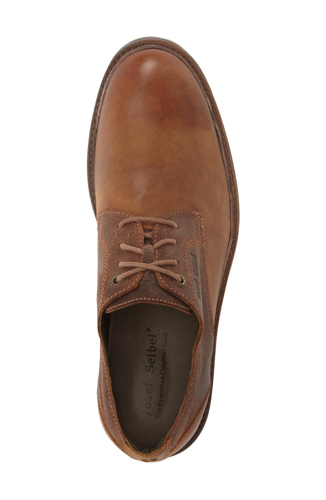 Oscar Plain Toe Derby,                             Alternate thumbnail 5, color,                             CASTAGNE LEATHER