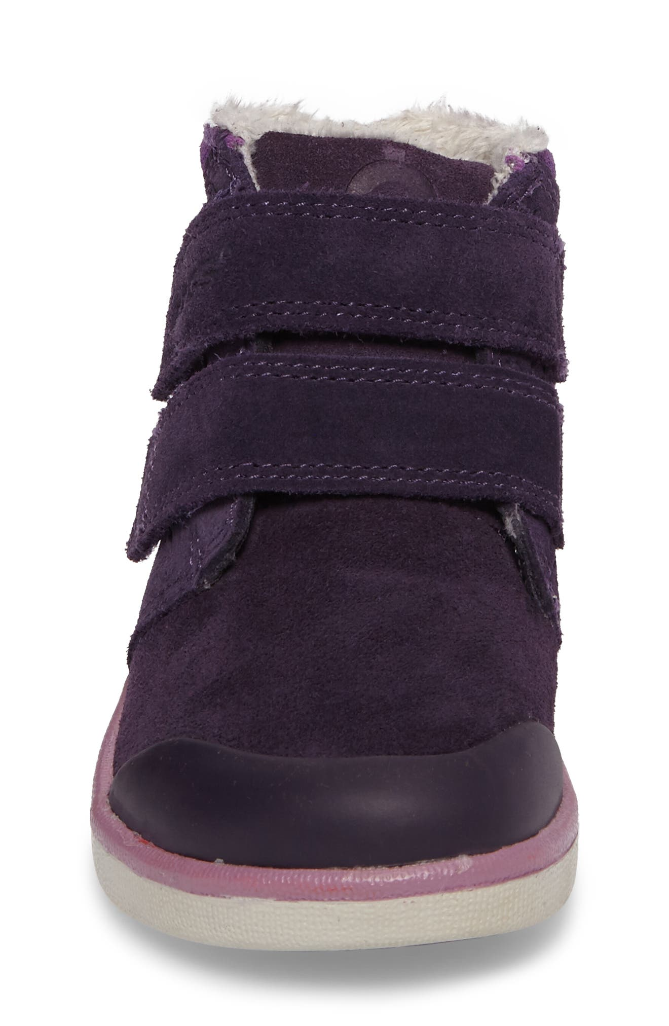 Samantha Faux Fur Waterproof Boot,                             Alternate thumbnail 4, color,                             EGGPLANT