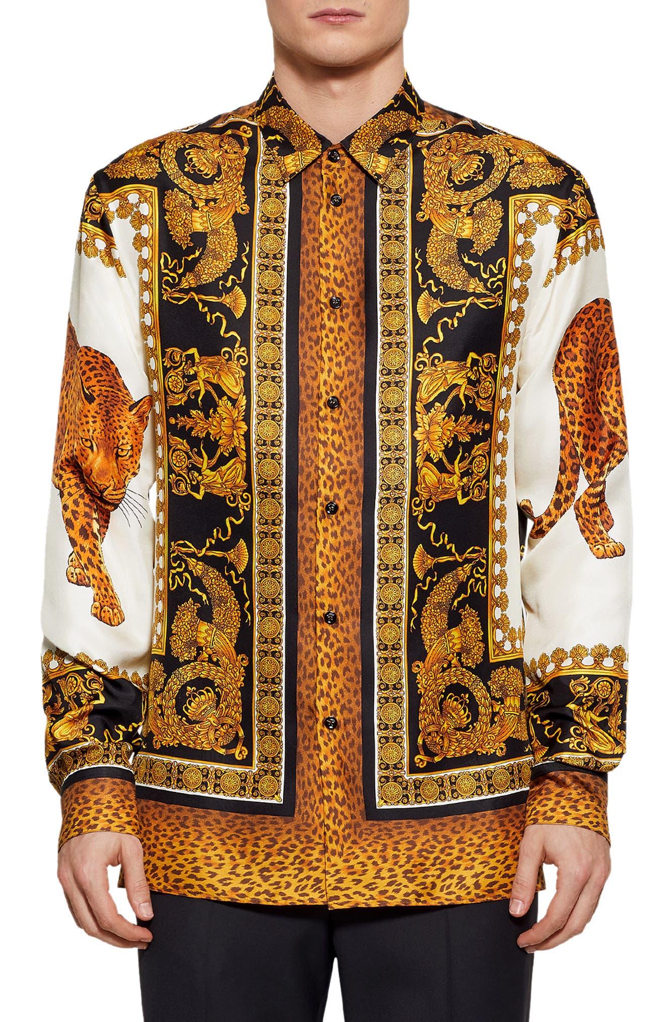 Baroque Print Shirt,                         Main,                         color, 994