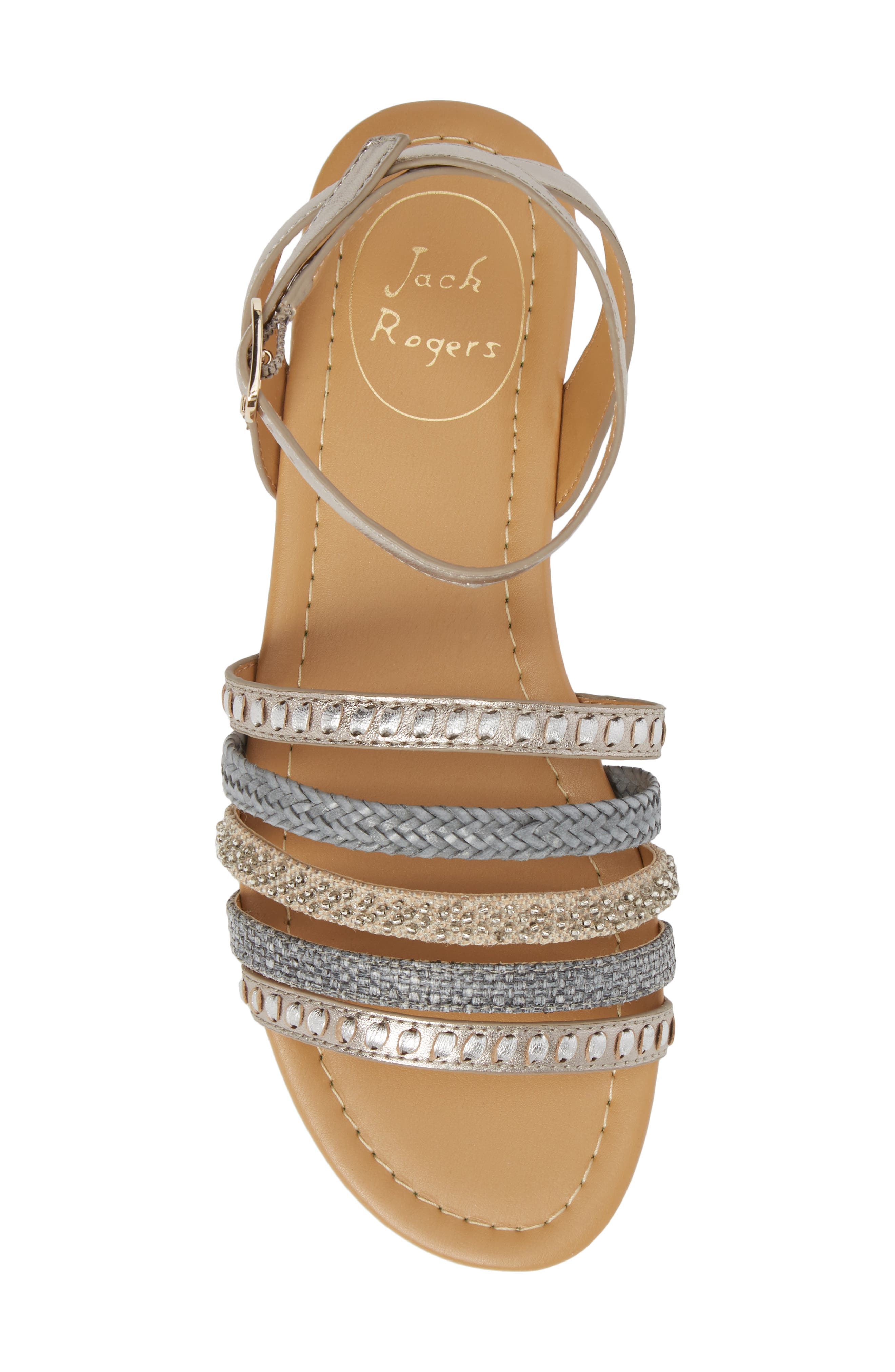 Hannah Braided Embellished Sandal,                             Alternate thumbnail 5, color,                             040