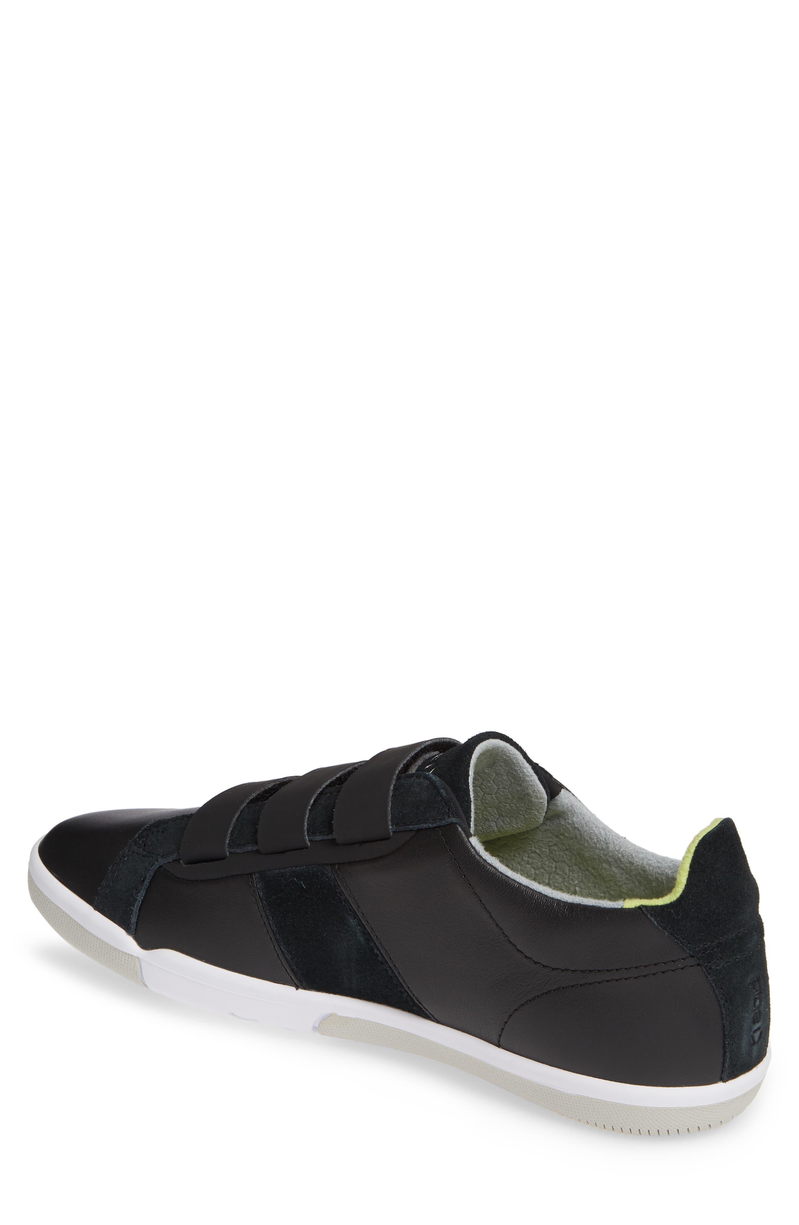 PLAE,                             Larkin Low Top Sneaker,                             Alternate thumbnail 2, color,                             BLACK LEATHER/ SUEDE