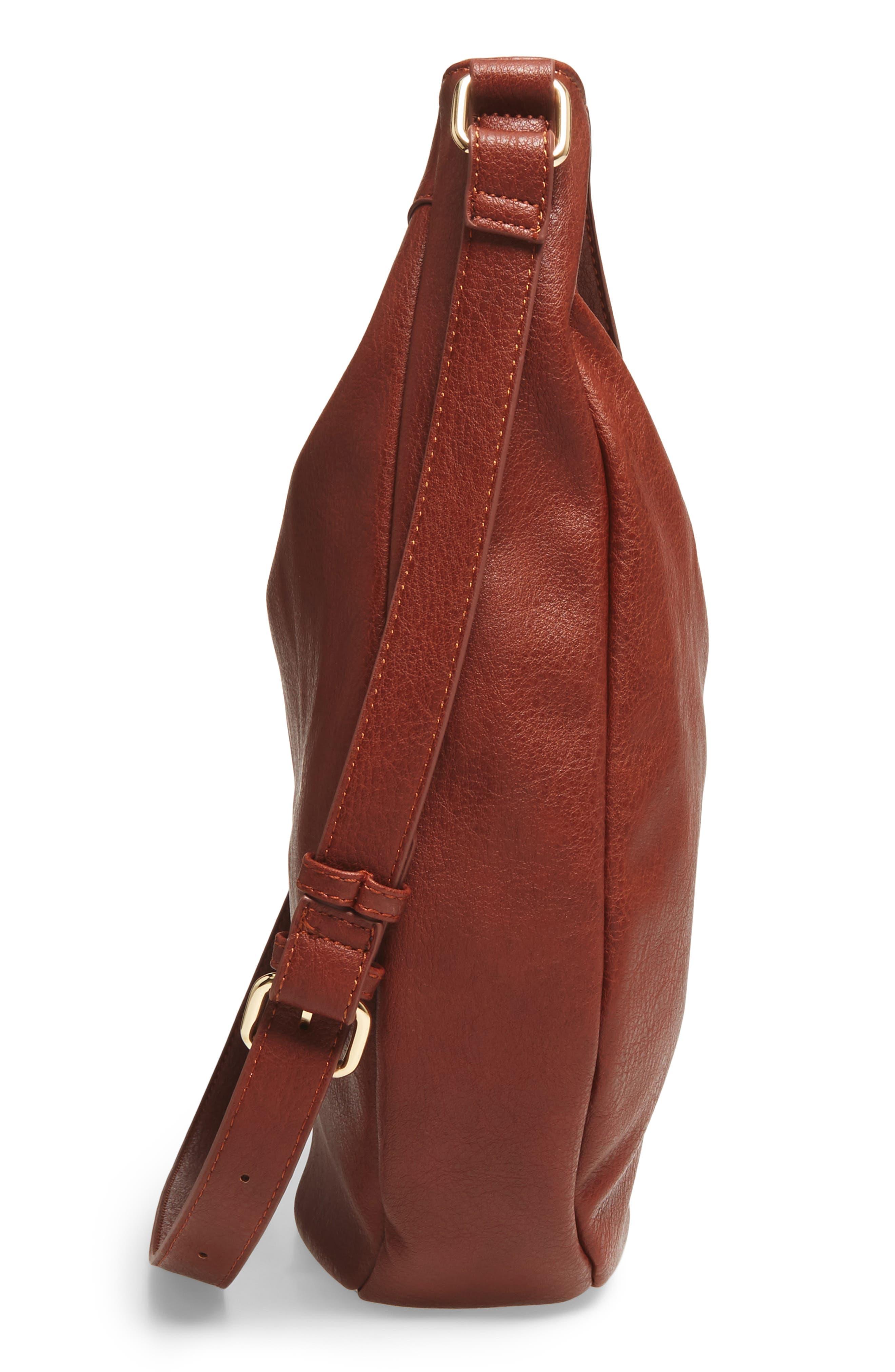 Kadence Faux Leather Shoulder Bag,                             Alternate thumbnail 10, color,