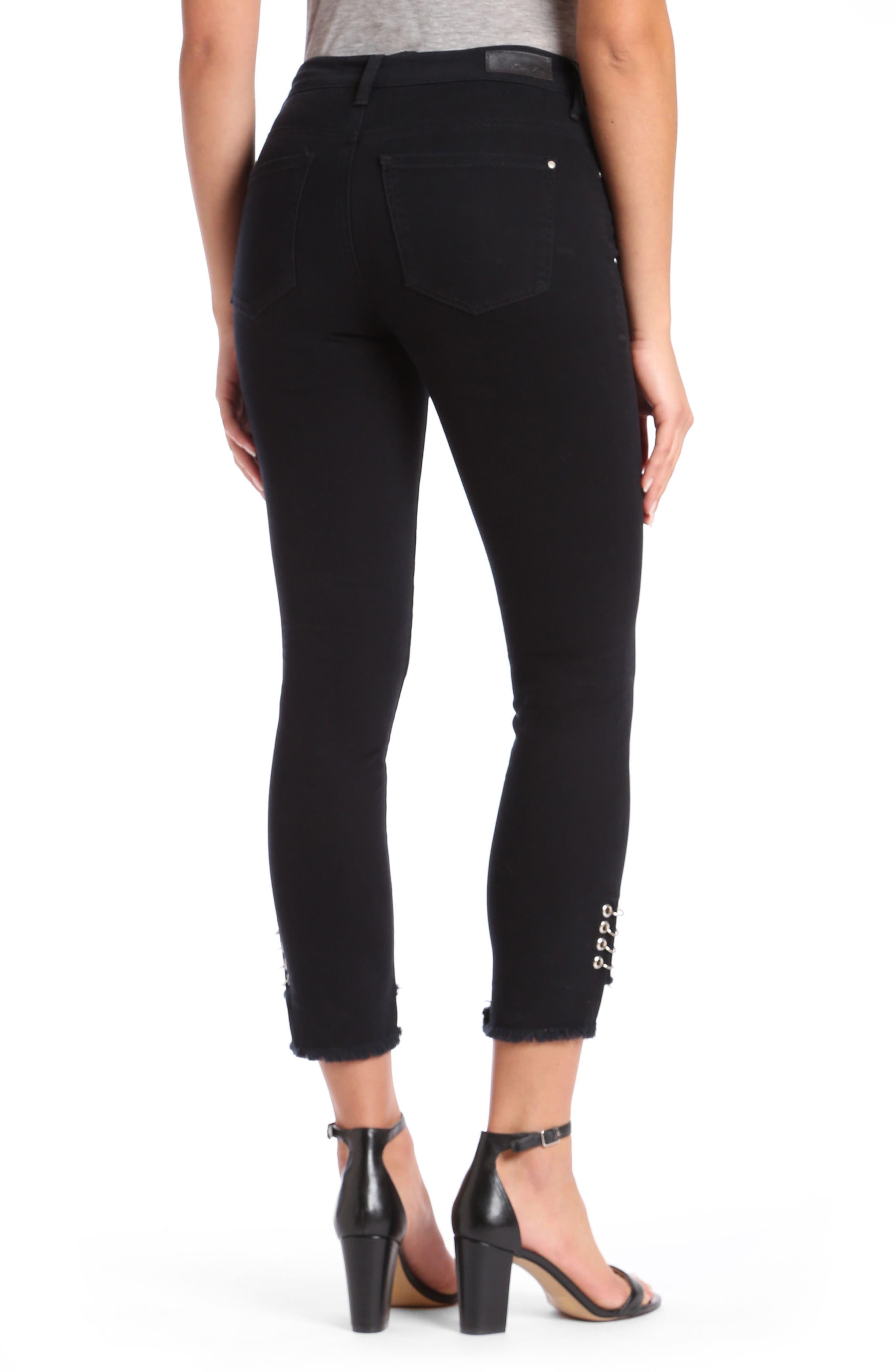 Mavi Tess Super Skinny Black Jeans,                             Alternate thumbnail 2, color,