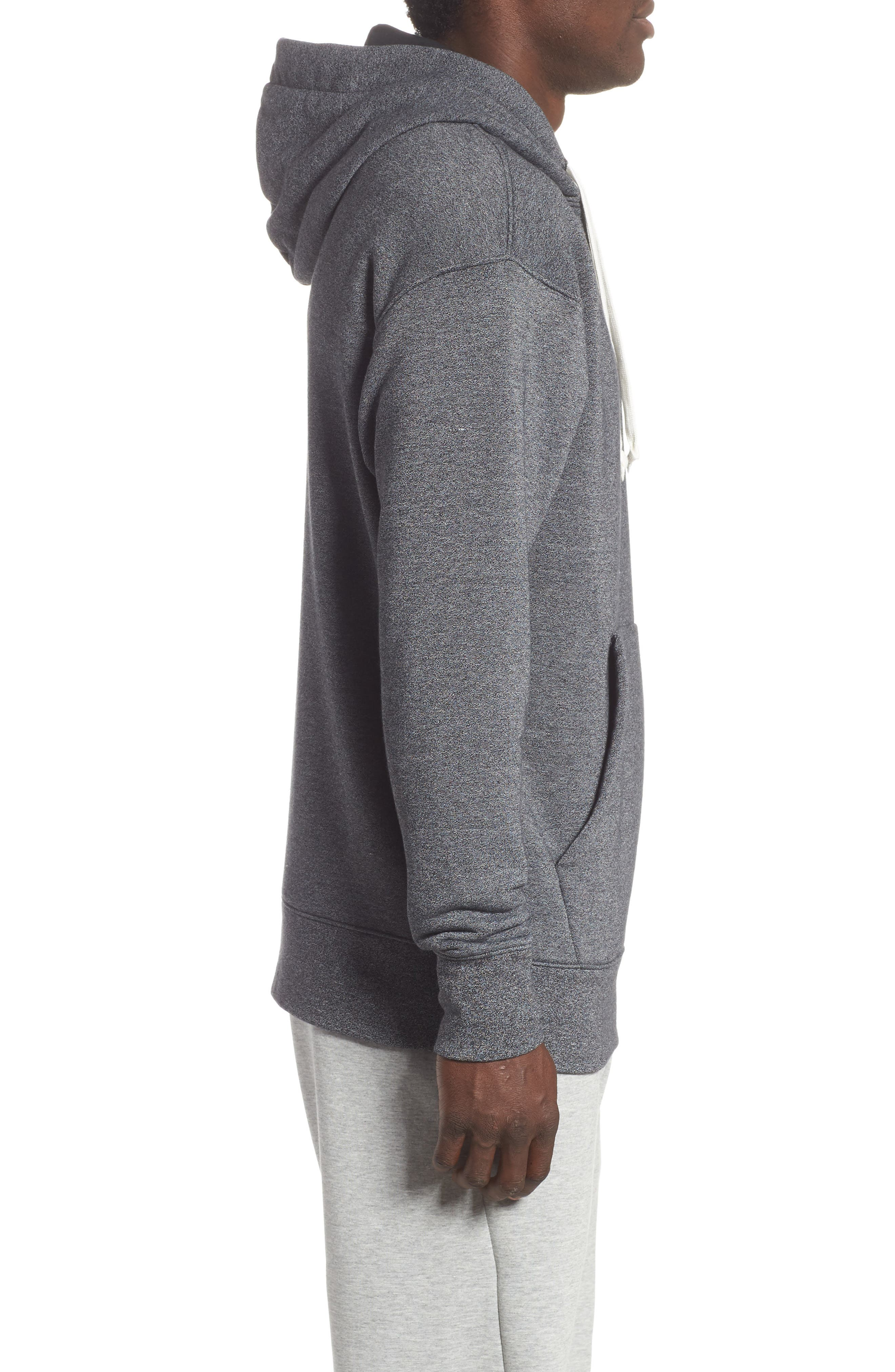 Sportswear Heritage Hoodie,                             Alternate thumbnail 3, color,                             BLACK/ HEATHER/ SAIL