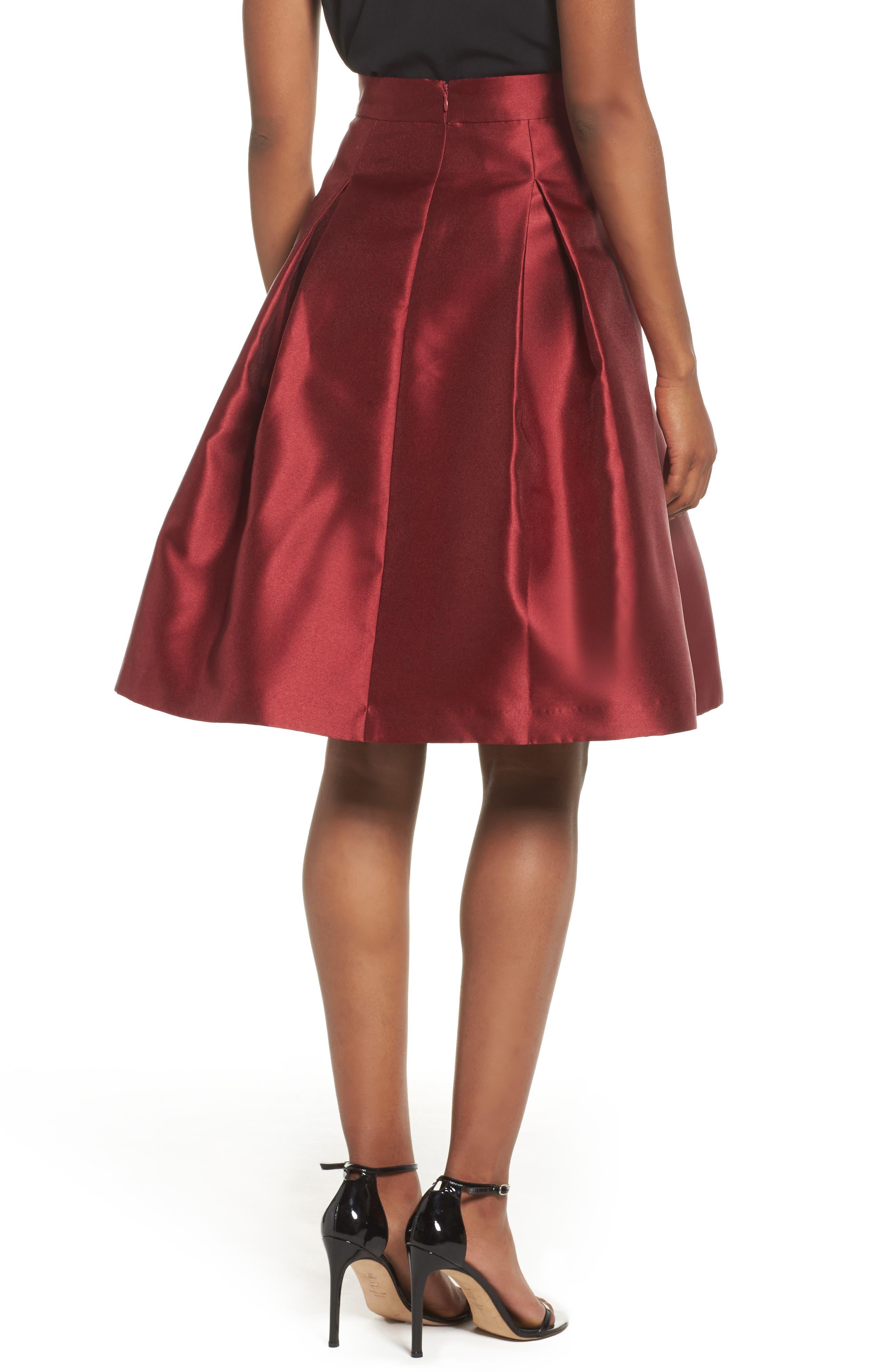 Pleated Mikado Skirt,                             Alternate thumbnail 2, color,                             610