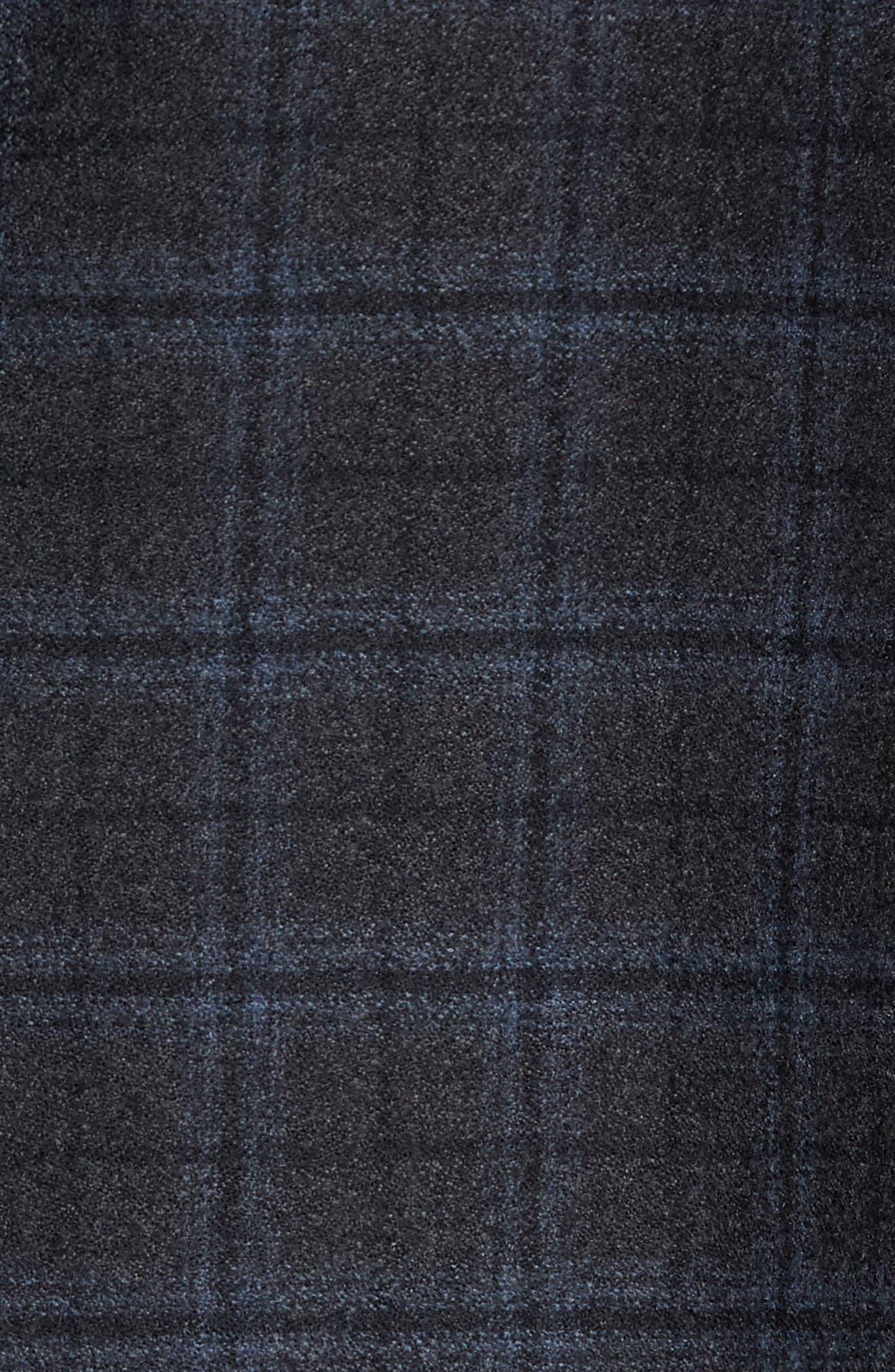 Konan Trim Fit Plaid Wool Sport Coat,                             Alternate thumbnail 6, color,                             020