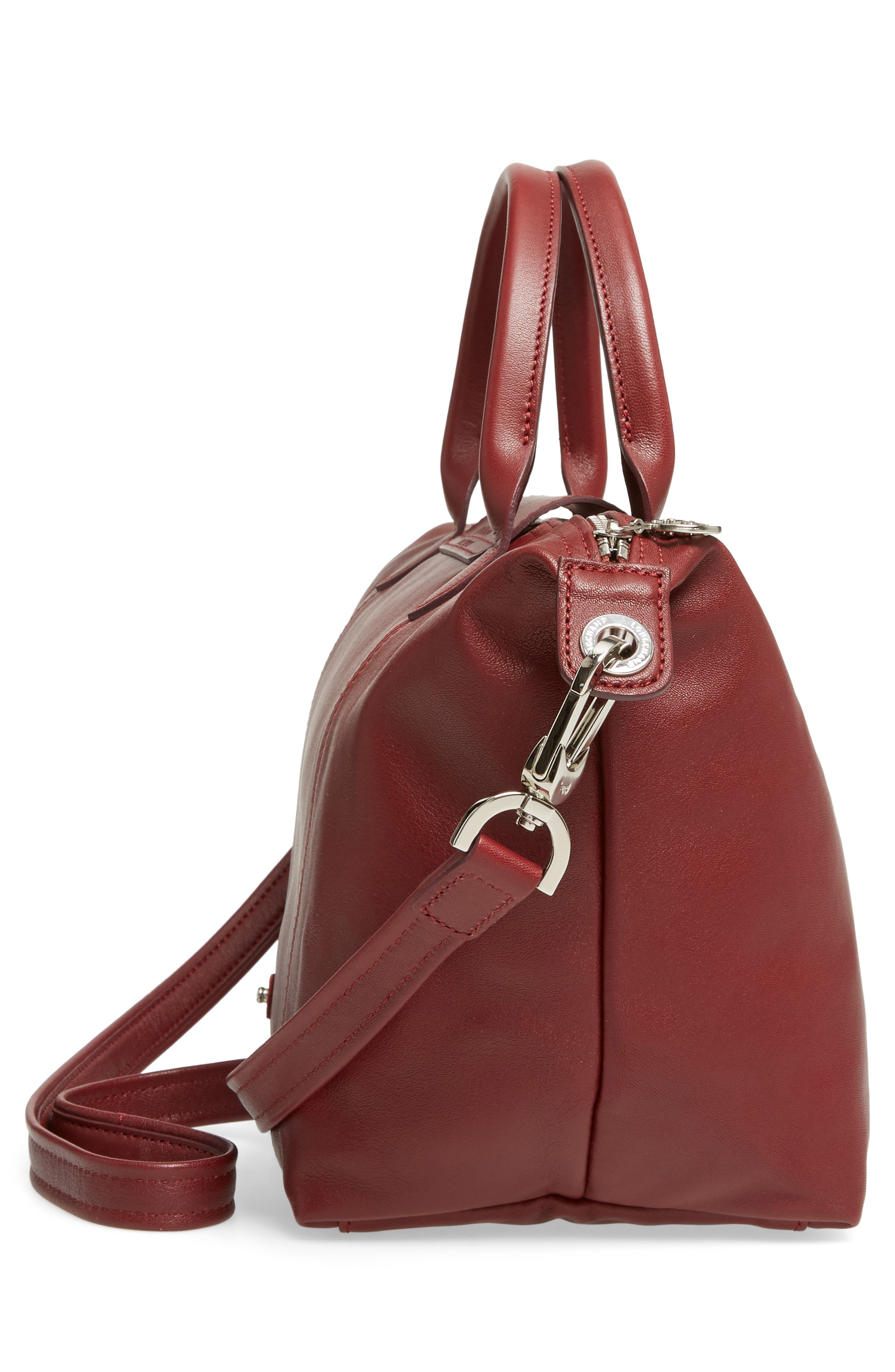 Small 'Le Pliage Cuir' Leather Top Handle Tote,                             Alternate thumbnail 77, color,