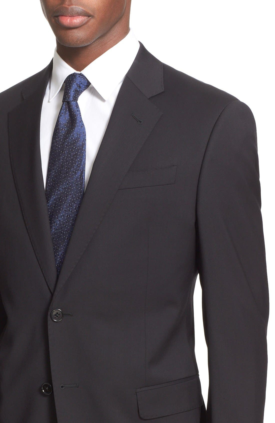 G-Line Trim Fit Solid Wool Suit,                             Alternate thumbnail 2, color,                             001