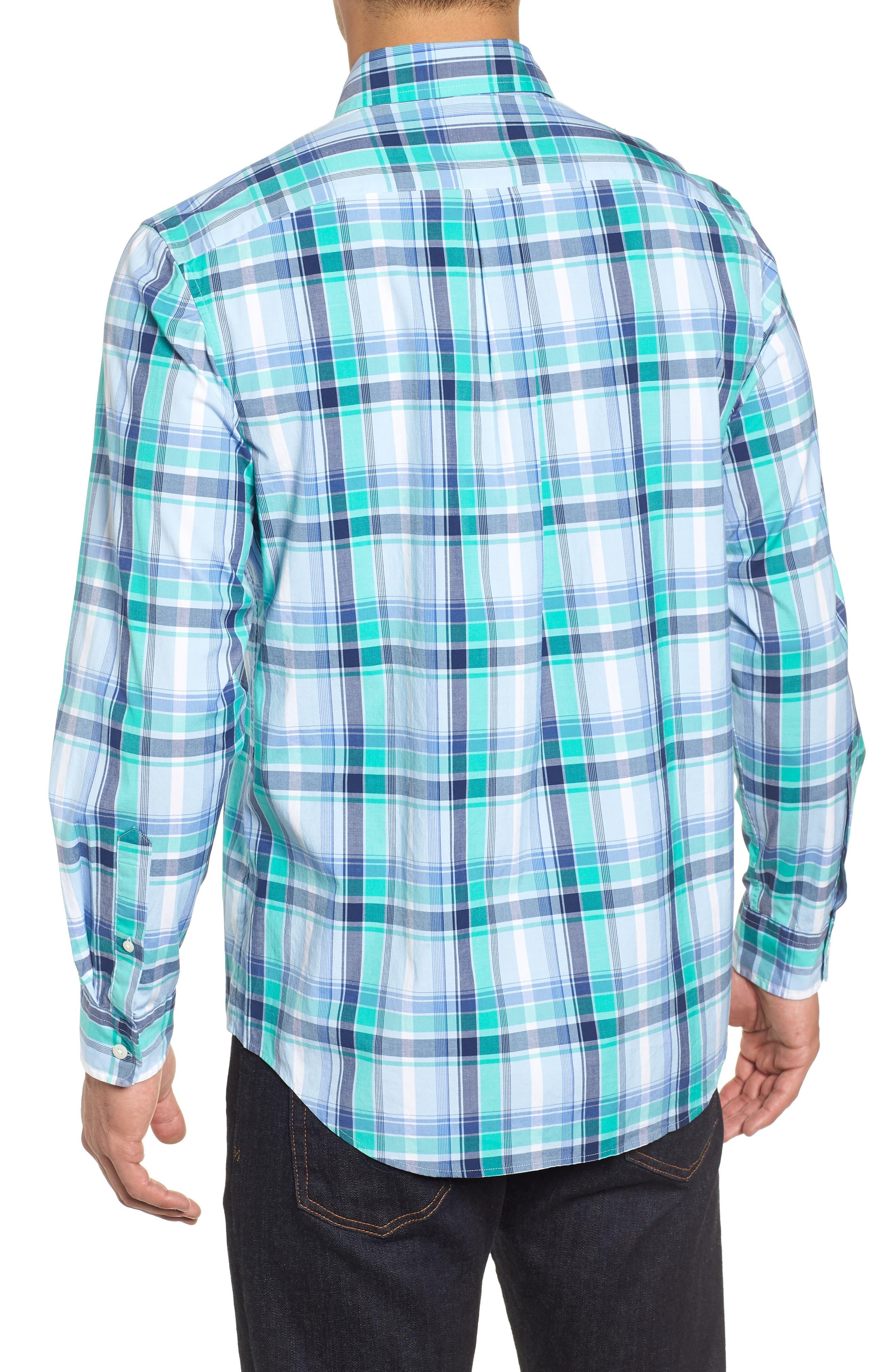 Boathouse Slim Fit Plaid Tucker Sport Shirt,                             Alternate thumbnail 3, color,                             386