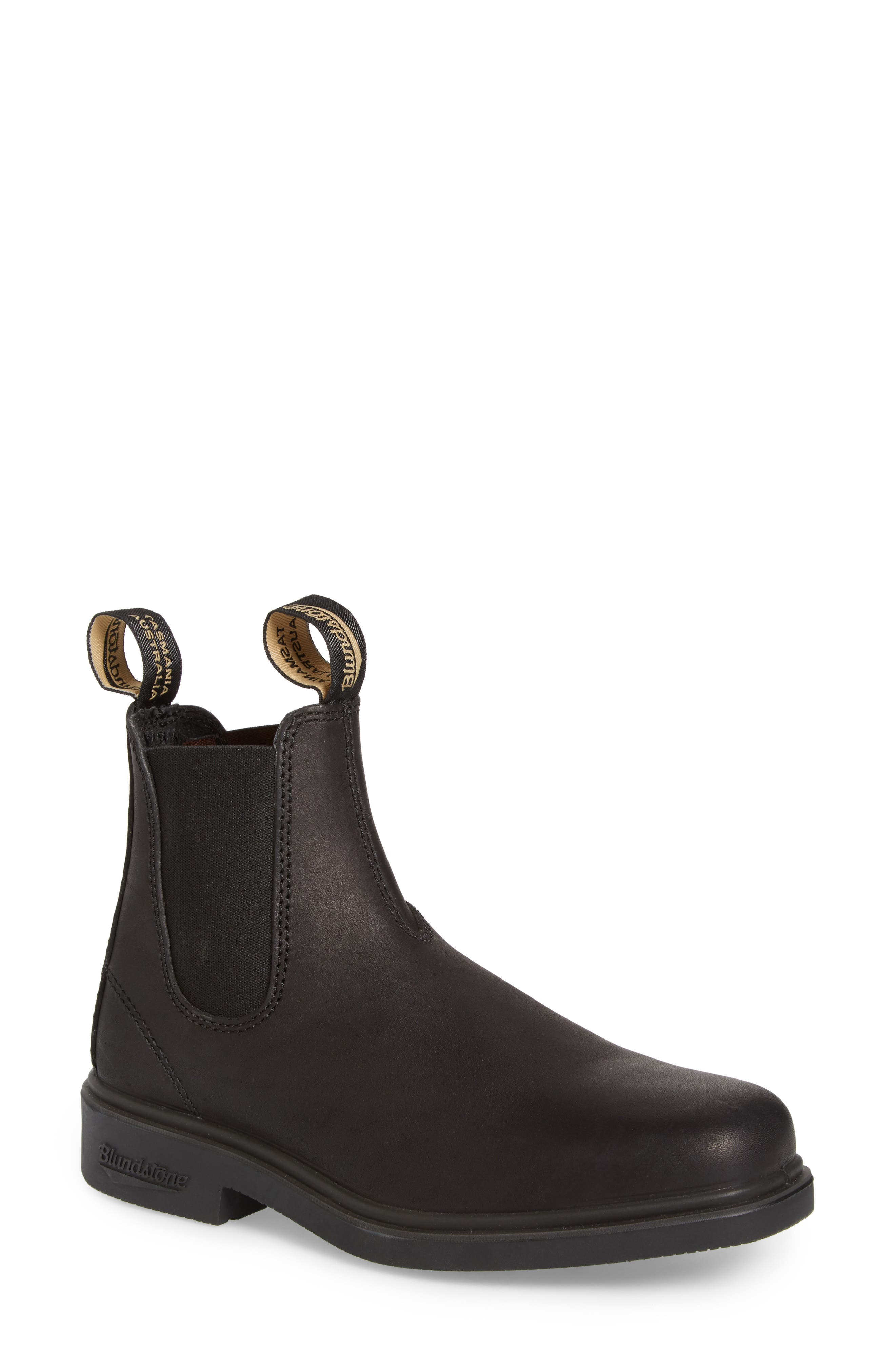 BLUNDSTONE FOOTWEAR,                             Chelsea Boot,                             Main thumbnail 1, color,                             BLACK LEATHER