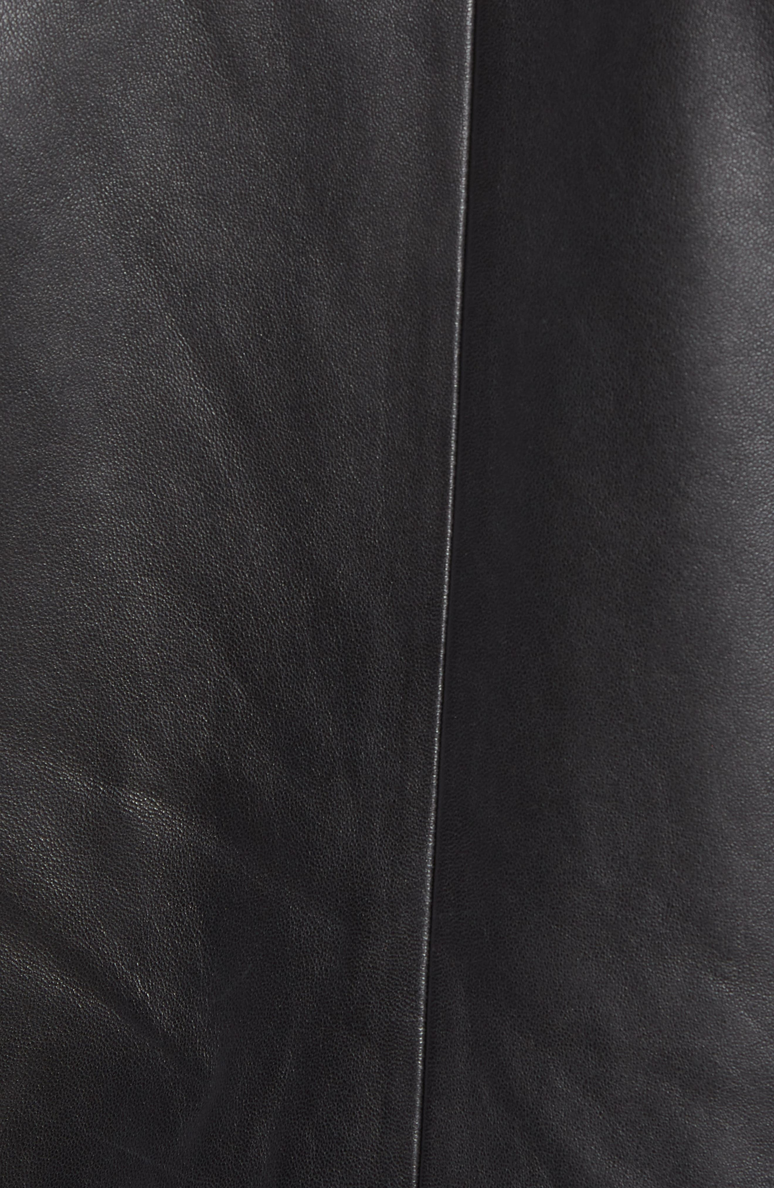 Leather Moto Jacket,                             Alternate thumbnail 7, color,                             001