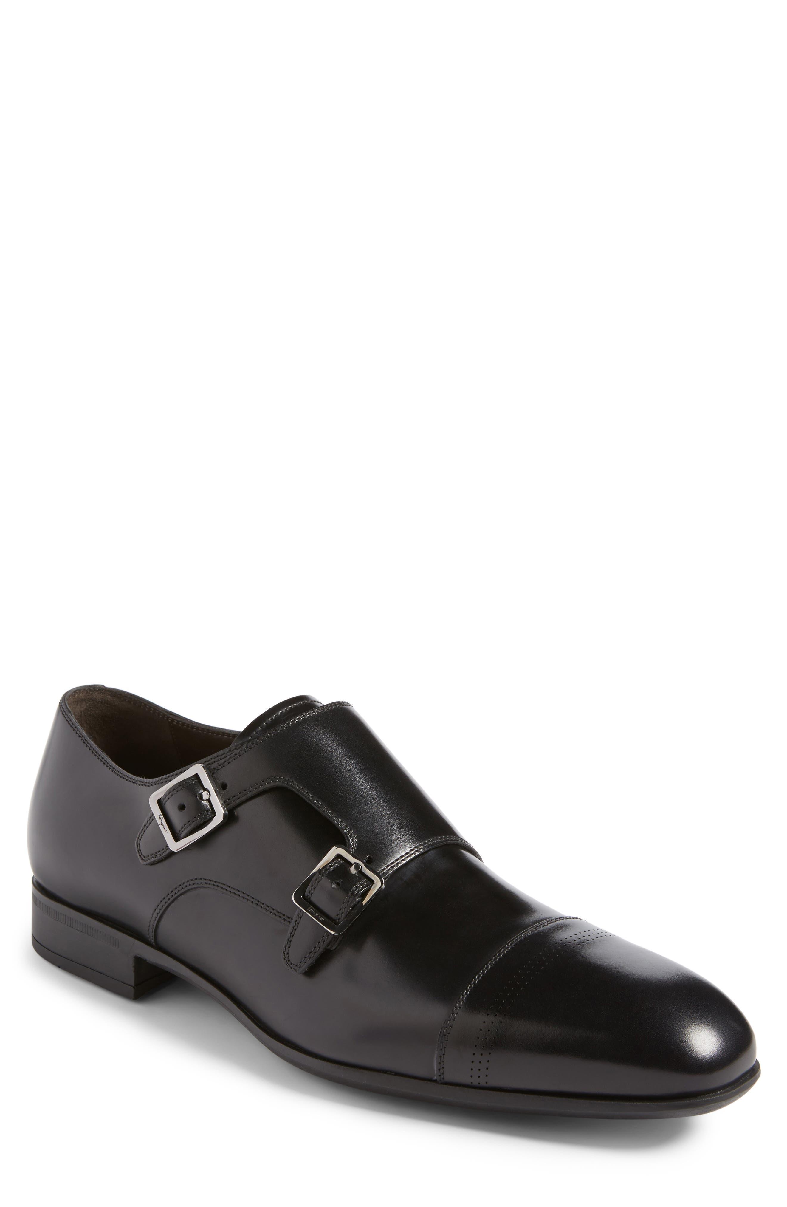 Defoe Double Monk Strap Shoe,                         Main,                         color, 001