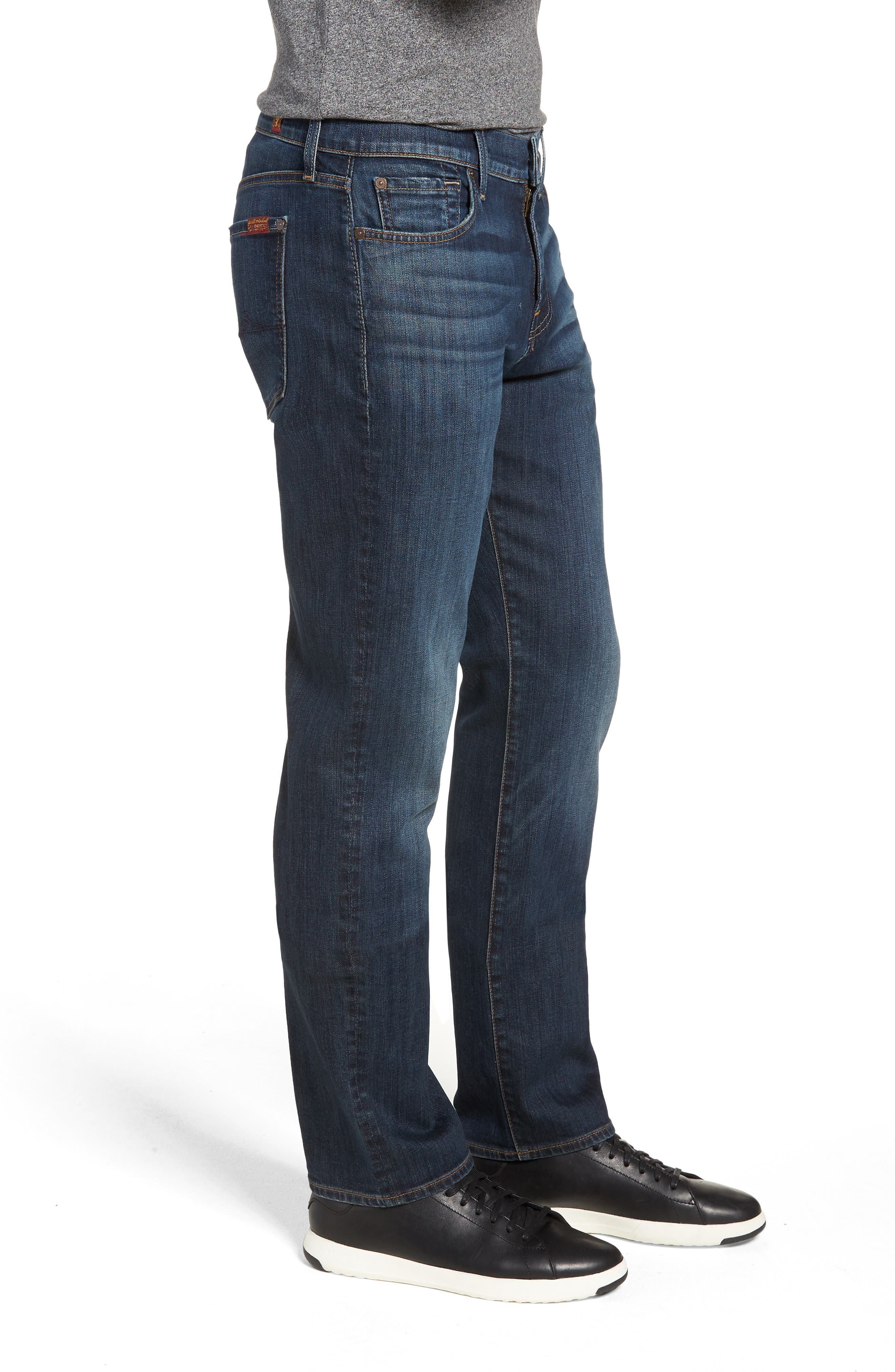 Luxe Performance Standard Straight Leg Jeans,                             Alternate thumbnail 3, color,                             LUXE PERFORMANCE YELM