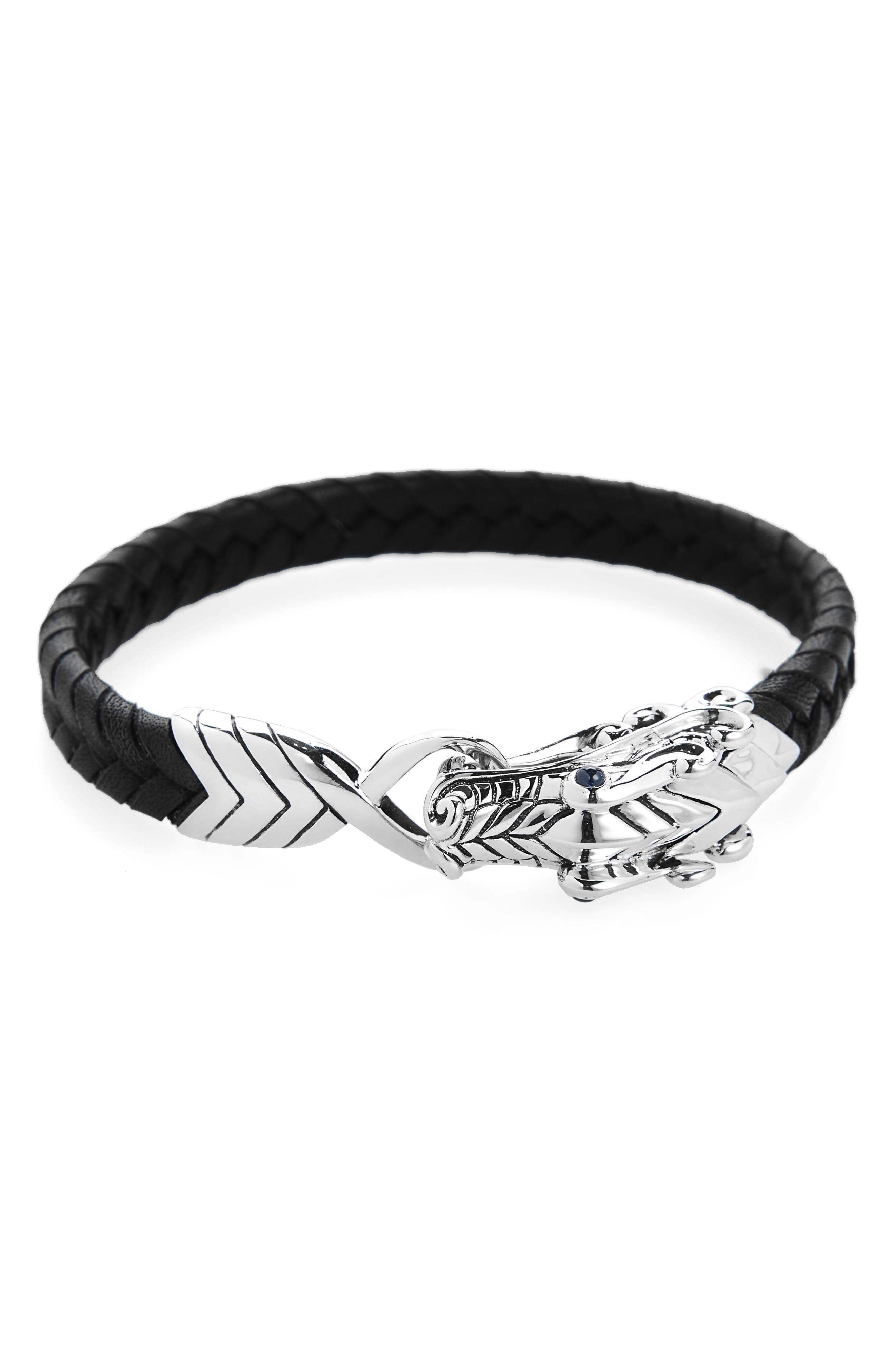 Legends Naga Bracelet,                             Alternate thumbnail 3, color,                             BLACK