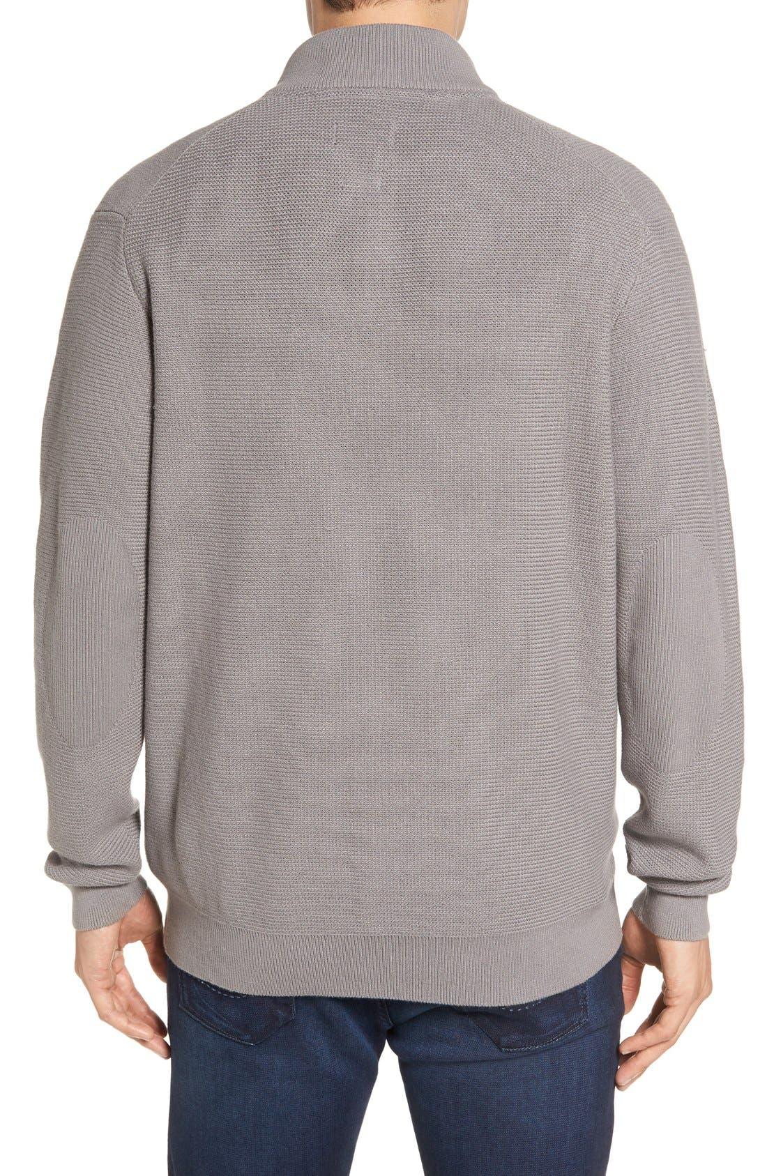 'Benson' Quarter Zip Textured Knit Sweater,                             Alternate thumbnail 14, color,
