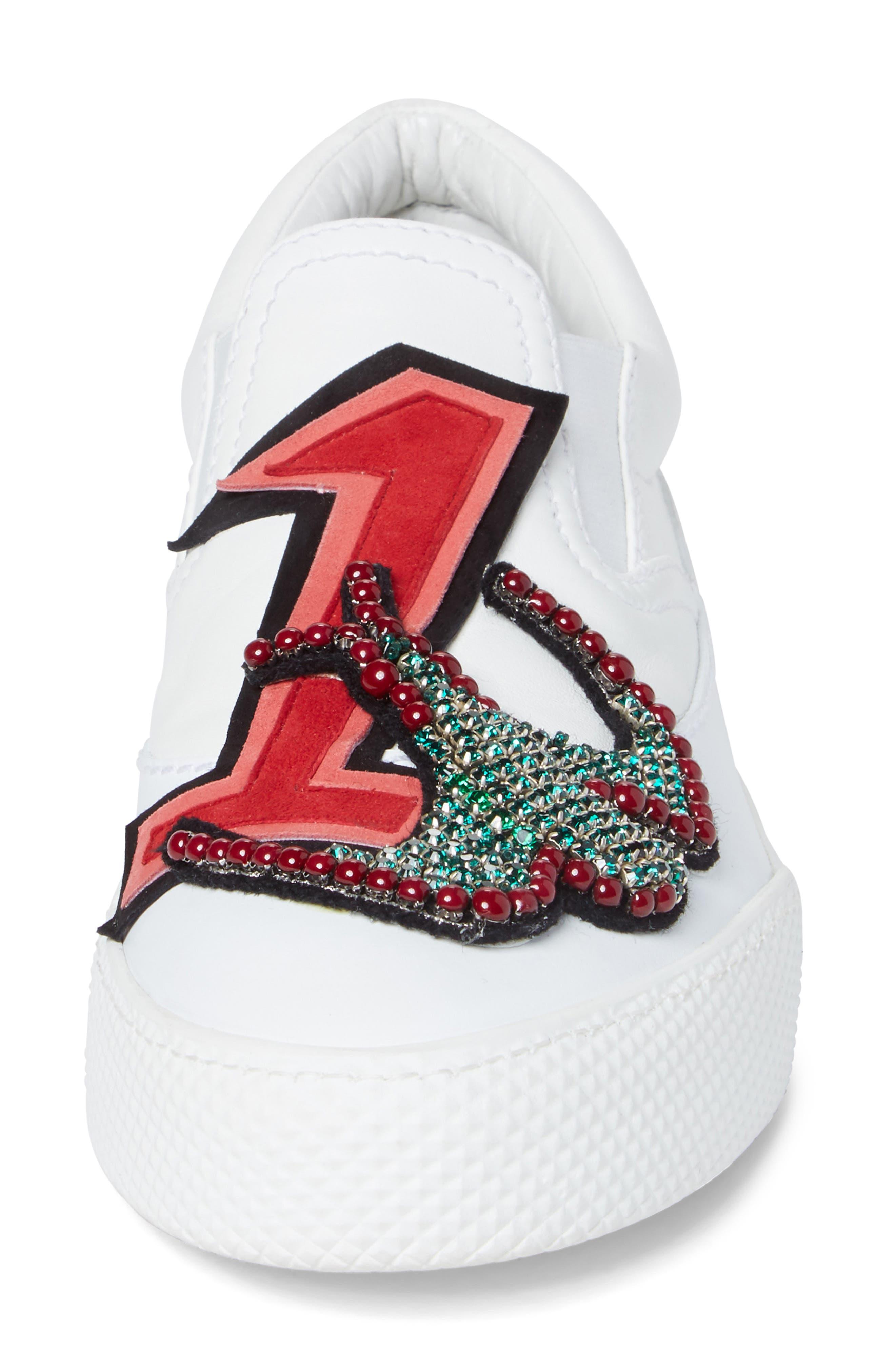 Embellished Slip-On Sneaker,                             Alternate thumbnail 4, color,