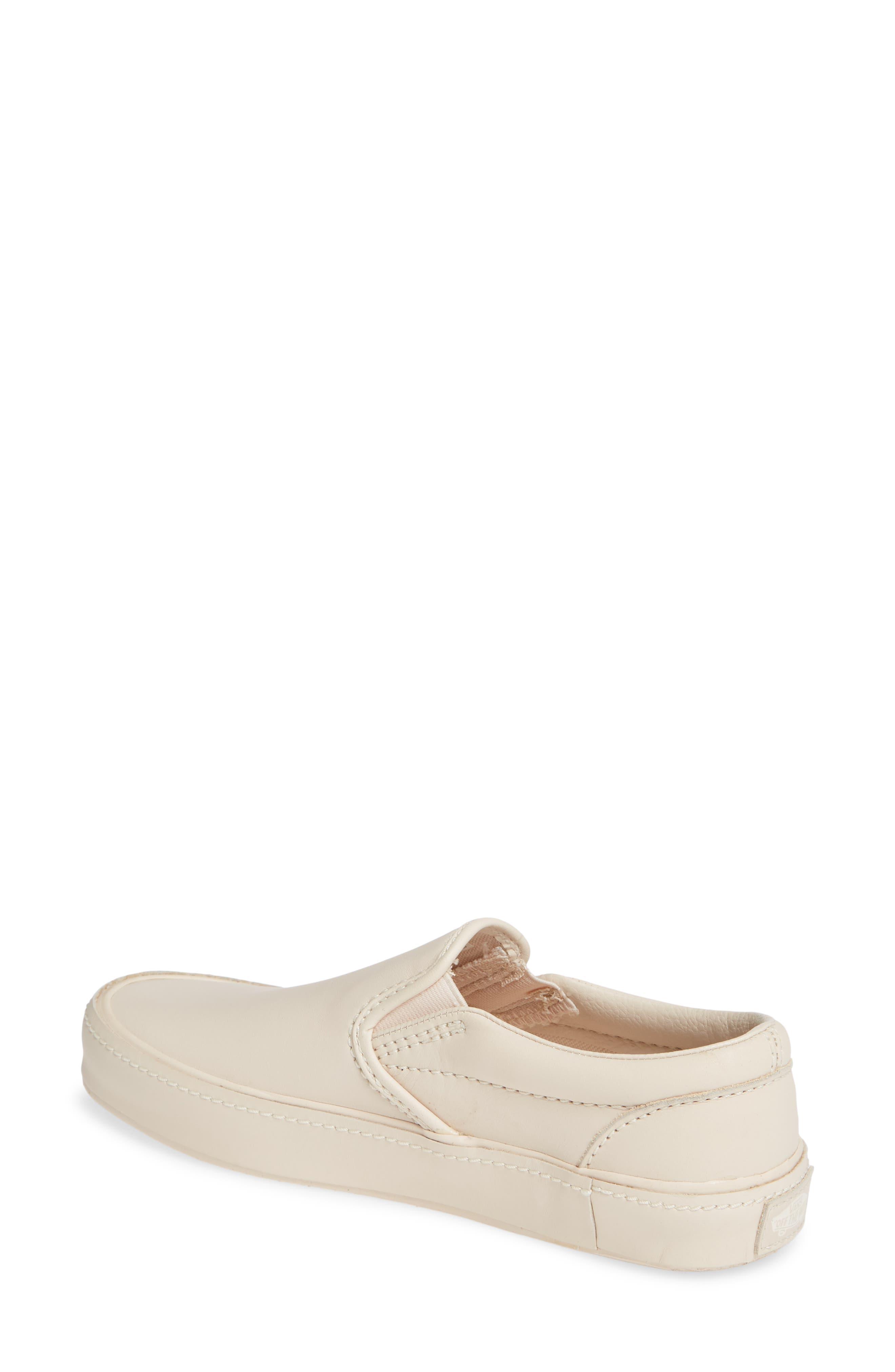 VANS,                             Classic Leather Slip-On Sneaker,                             Alternate thumbnail 2, color,                             270