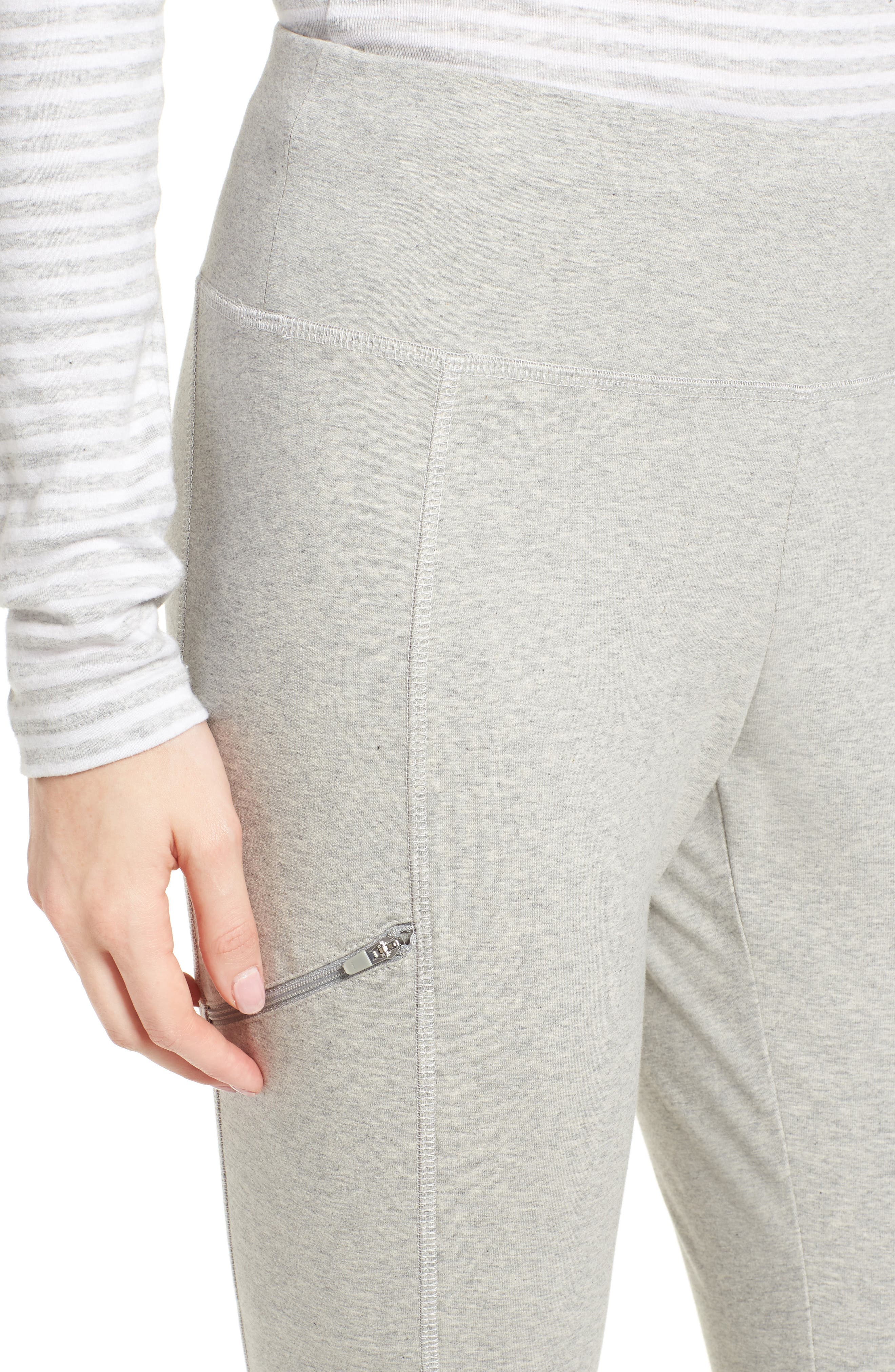 Stretch Organic Cotton Skinny Pants,                             Alternate thumbnail 4, color,