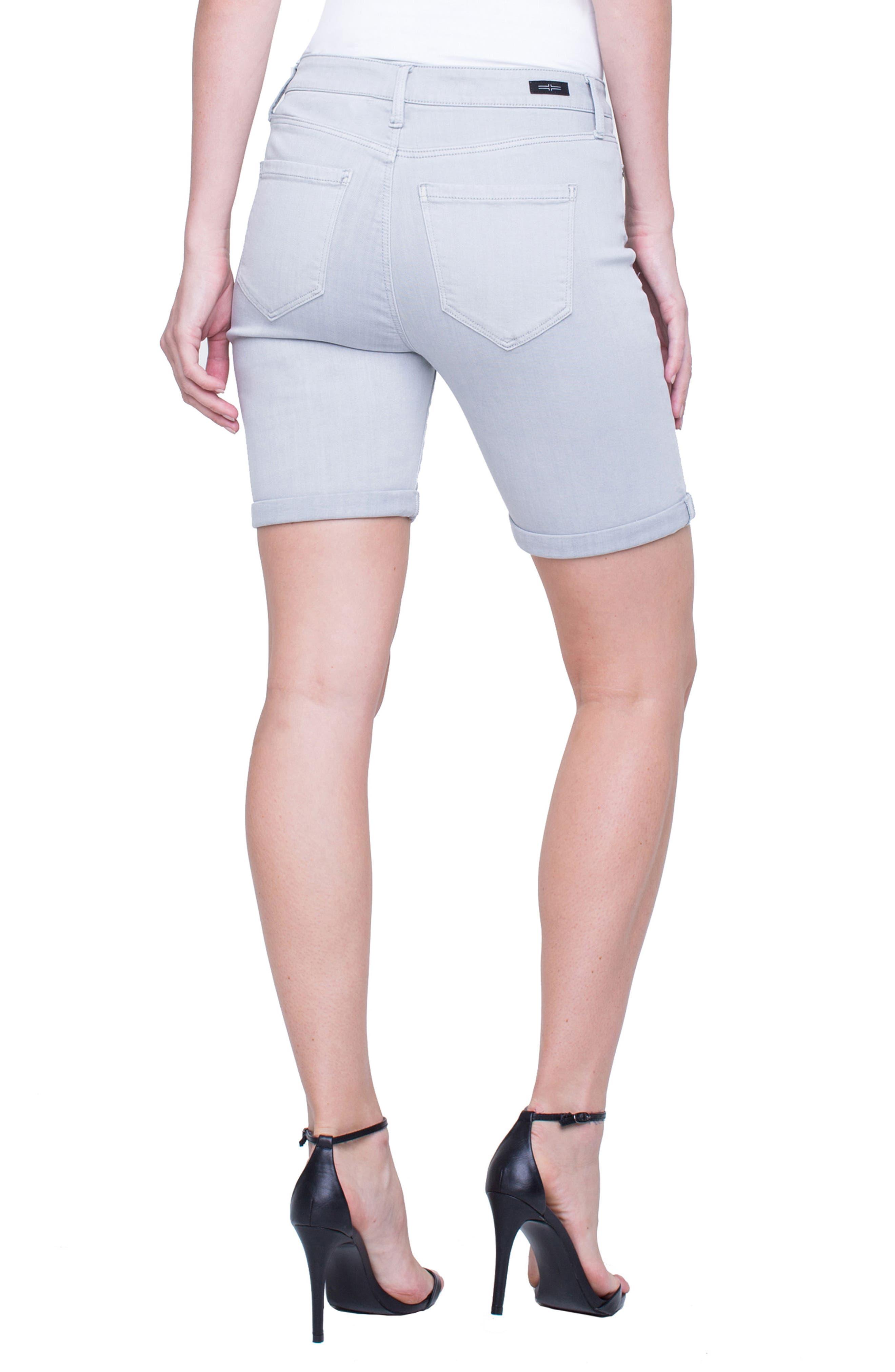 Corine Cuffed Denim Shorts,                             Alternate thumbnail 5, color,