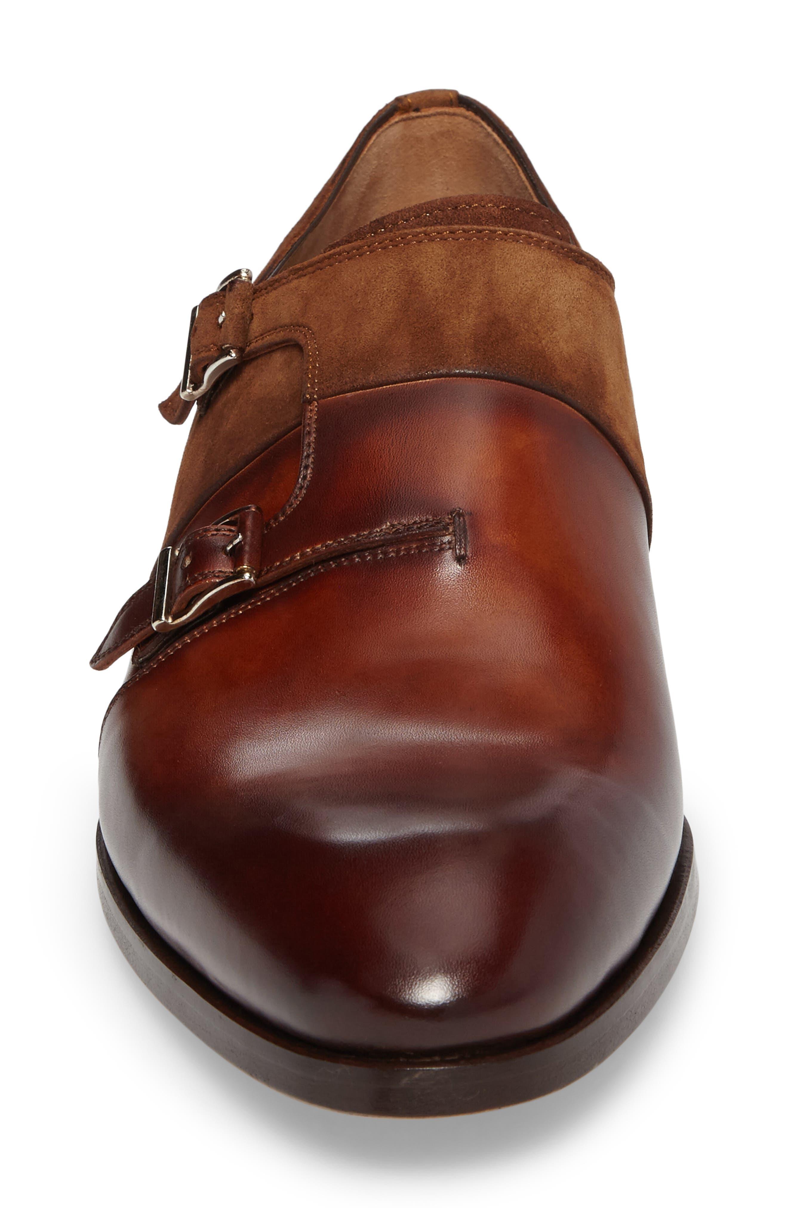 Orville Double Monk Strap Shoe,                             Alternate thumbnail 4, color,                             219