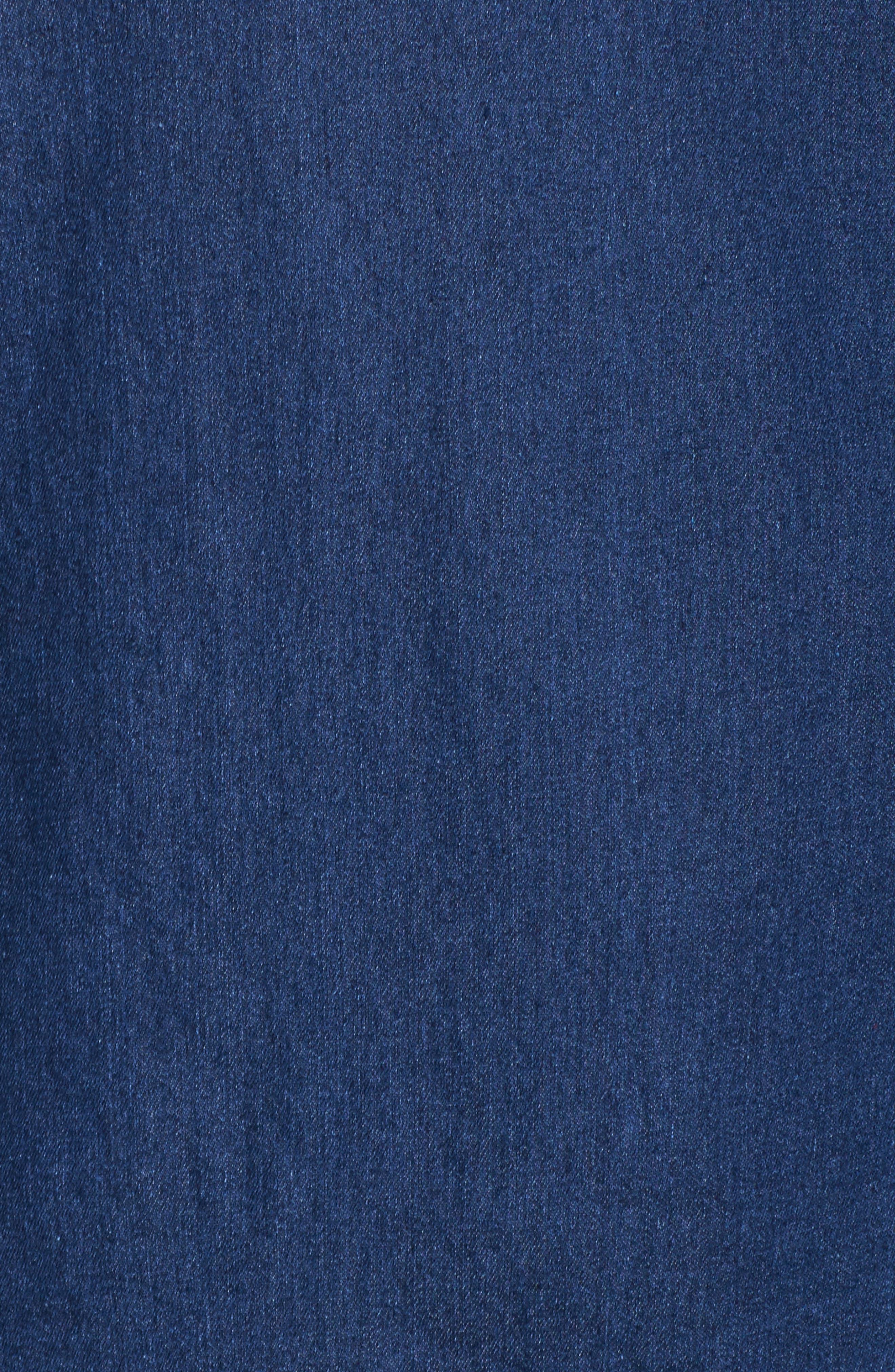 Blouson Sleeve Denim Top,                             Alternate thumbnail 5, color,                             401