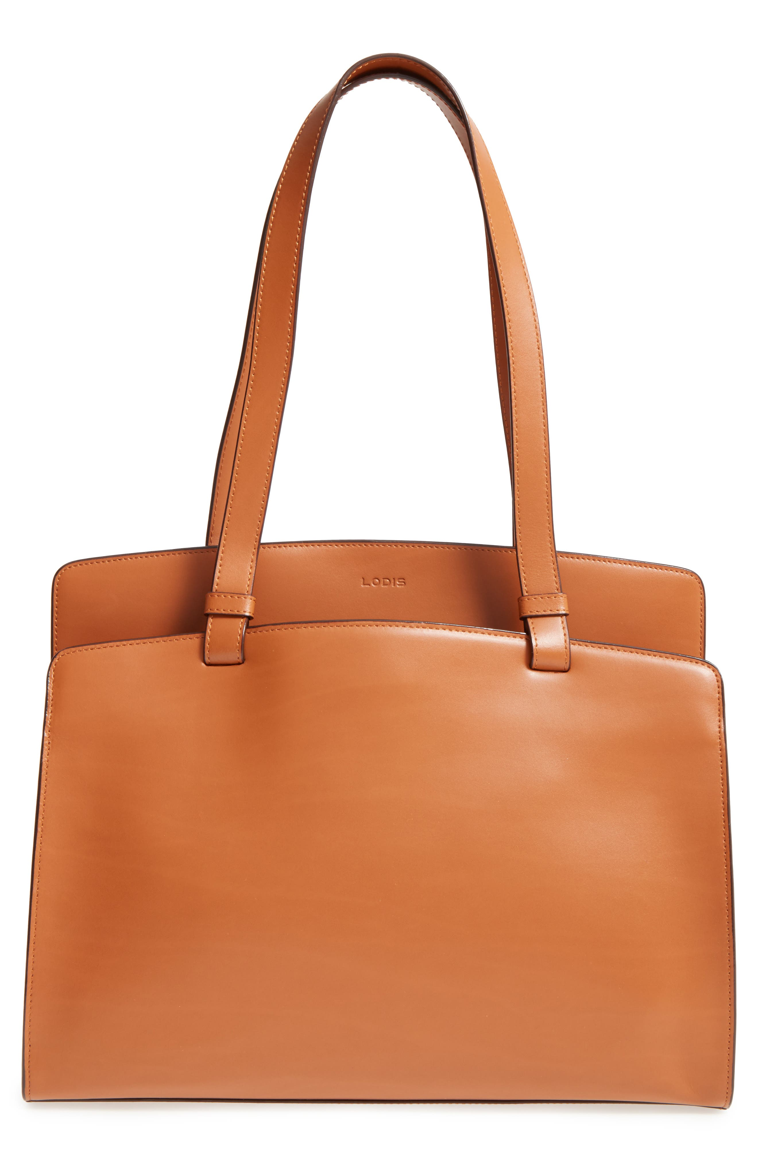 Lodis Audrey Collection - Jana Leather Tote,                             Main thumbnail 2, color,