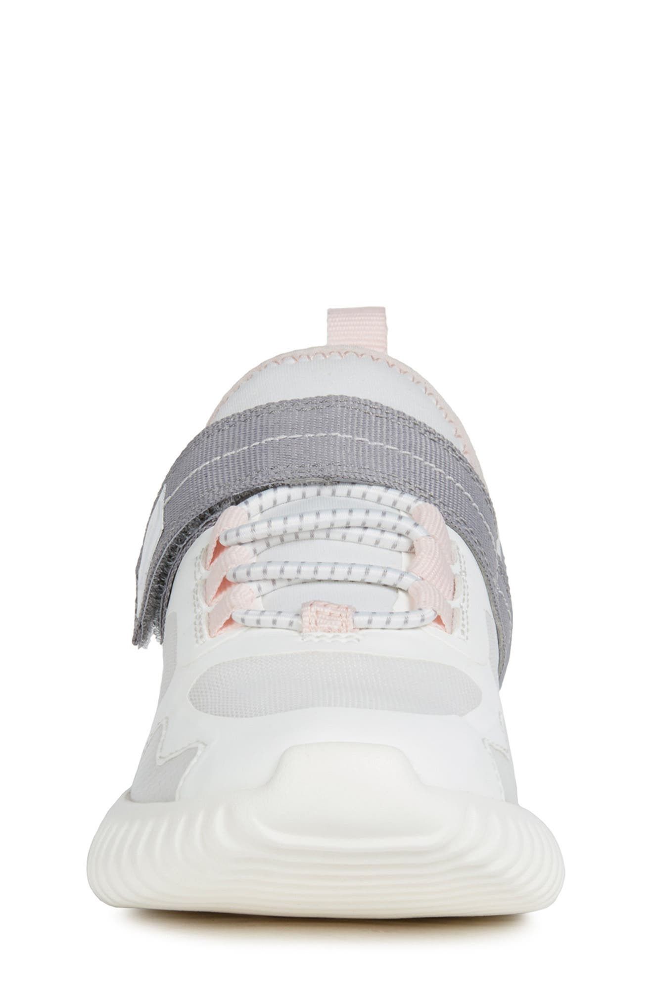 Waviness Sneaker,                             Alternate thumbnail 4, color,                             WHITE/ GREY