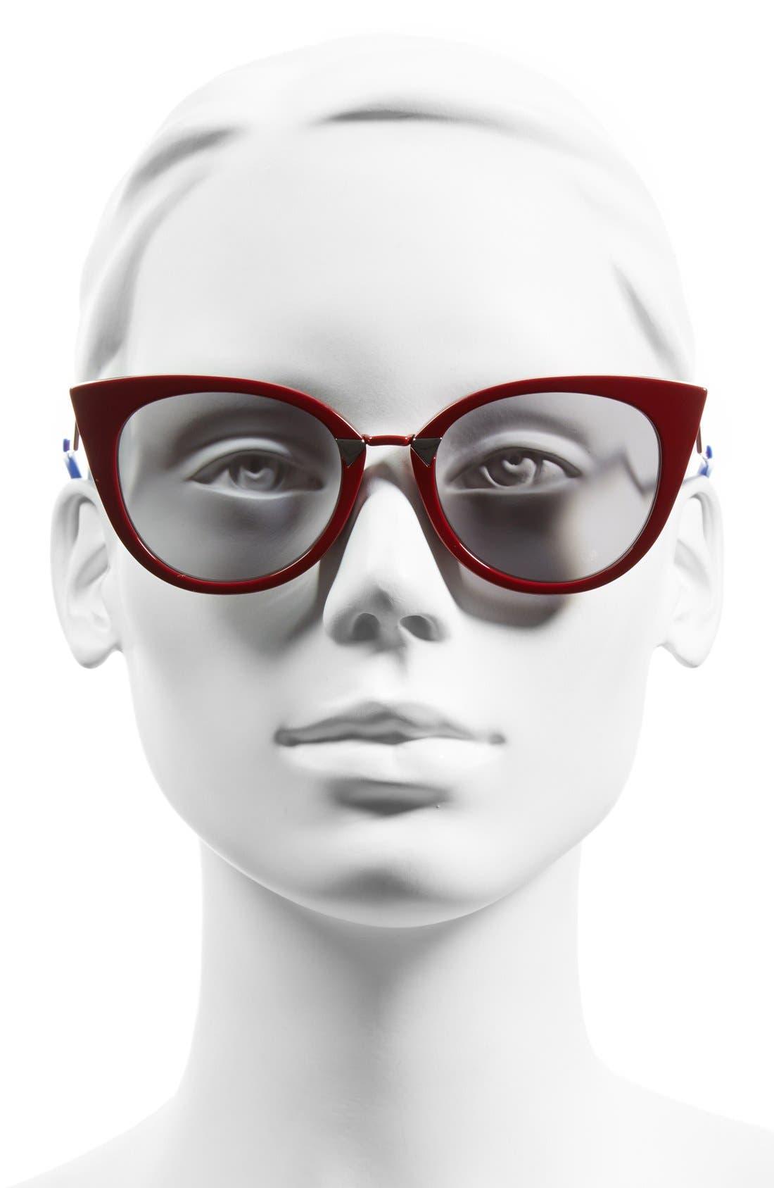 52mm Cat Eye Sunglasses,                             Alternate thumbnail 5, color,
