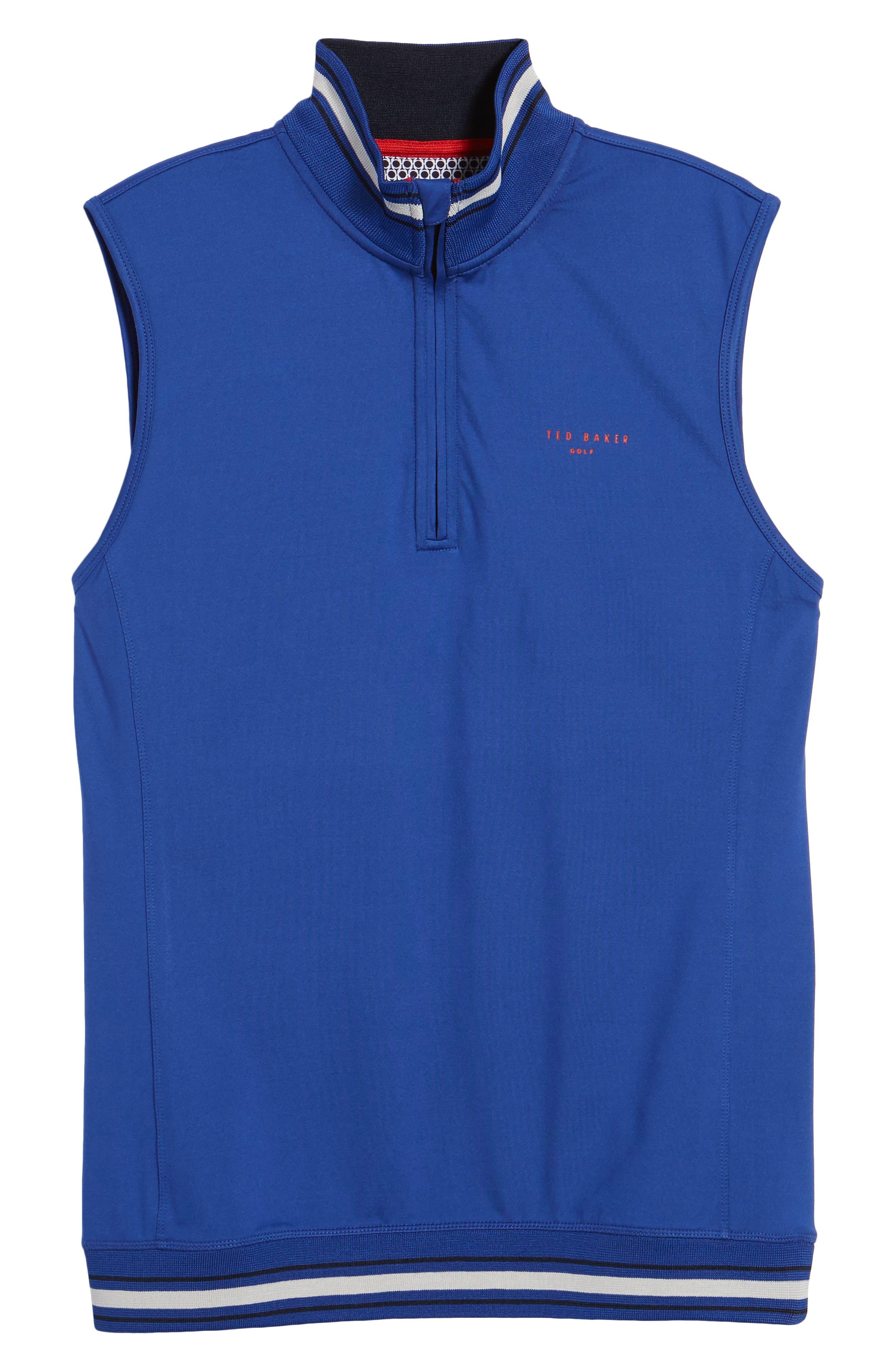 Gala Trim Golf Quarter-Zip Vest,                             Alternate thumbnail 6, color,                             430
