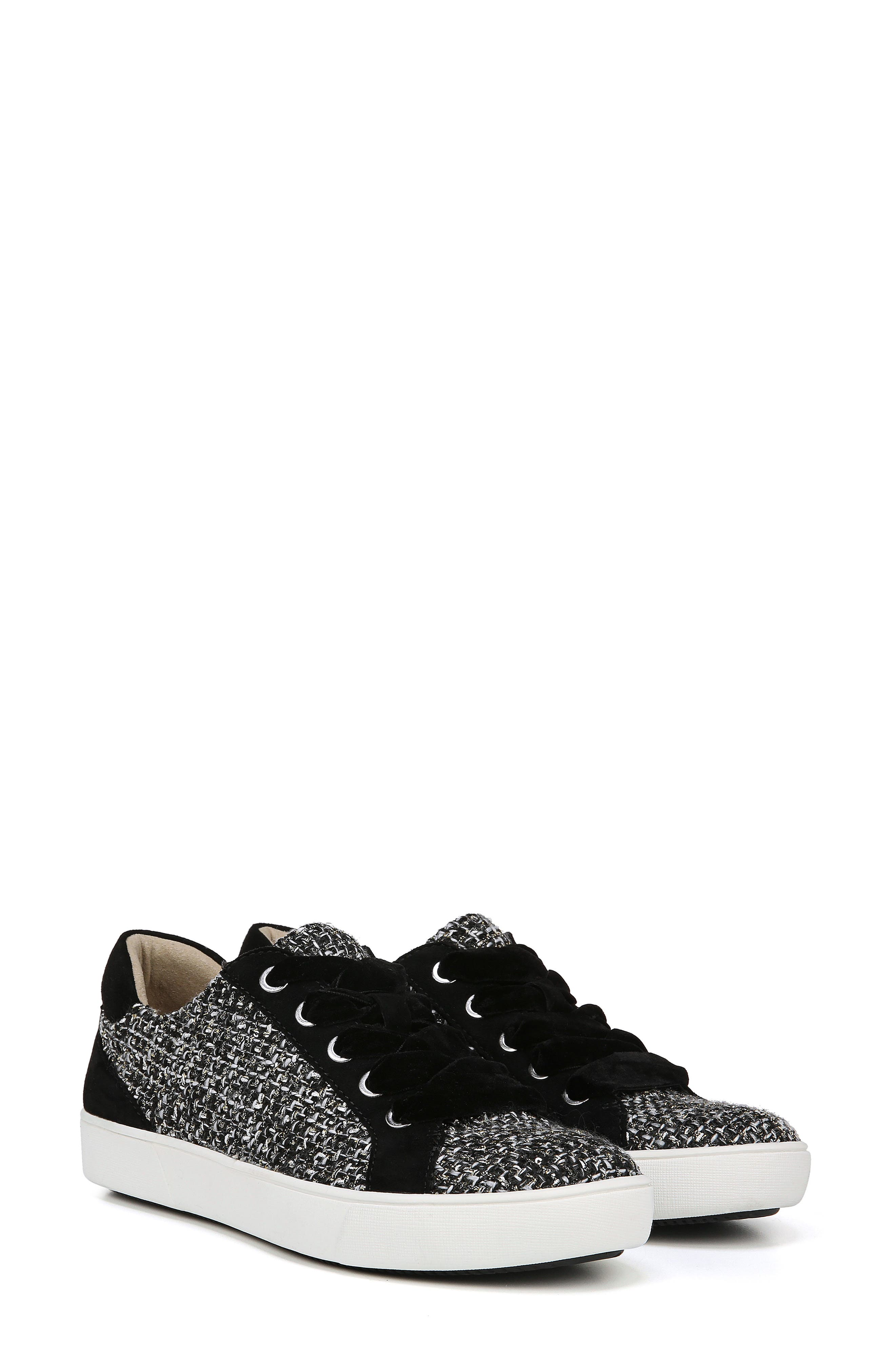 Morrison Sneaker,                             Alternate thumbnail 7, color,                             BLACK/ WHITE TWEED FABRIC