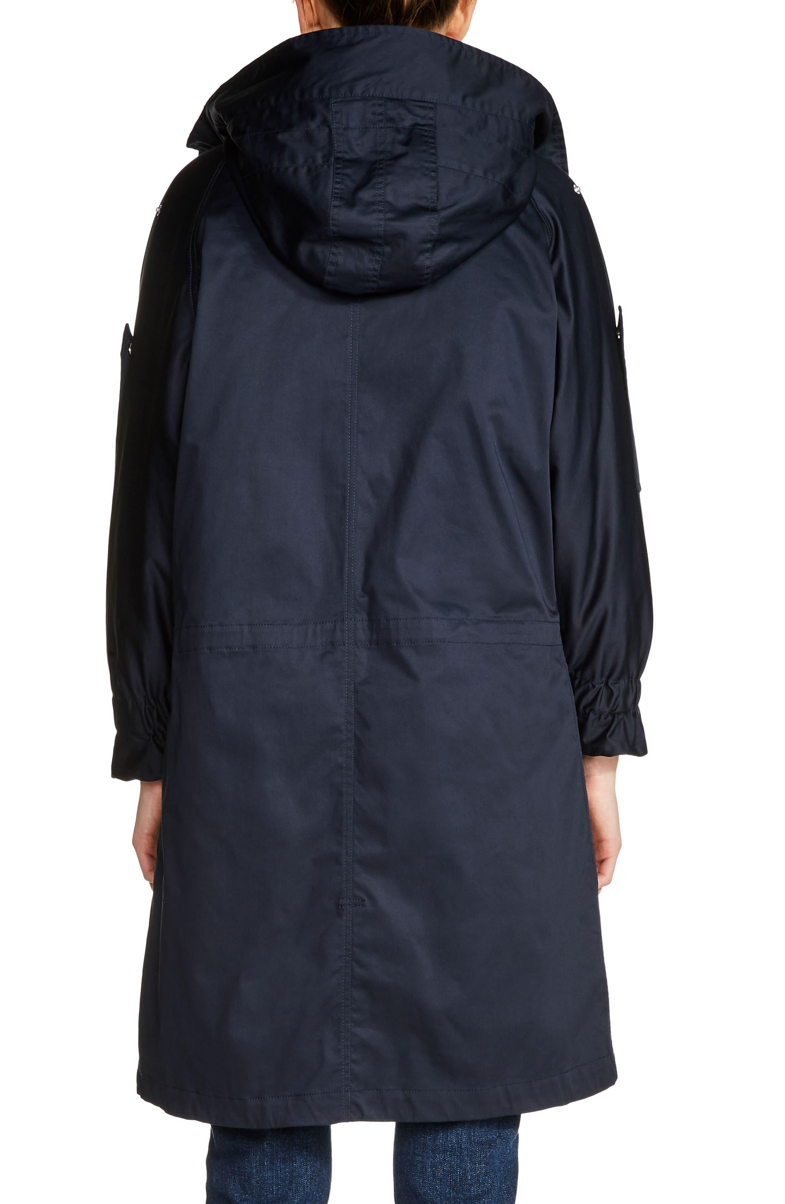 Faux Shearling Lined Long Raincoat,                             Alternate thumbnail 2, color,                             400