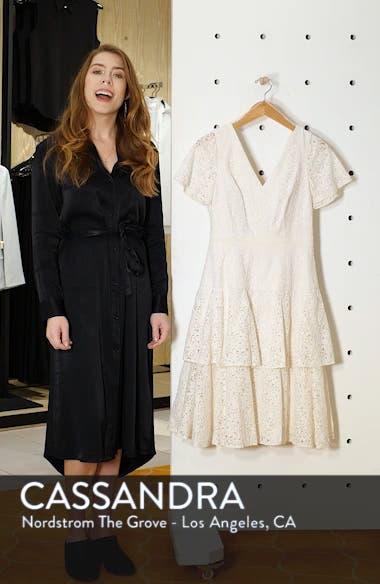 Doris Bow Back Tiered Skirt Lace Dress, sales video thumbnail