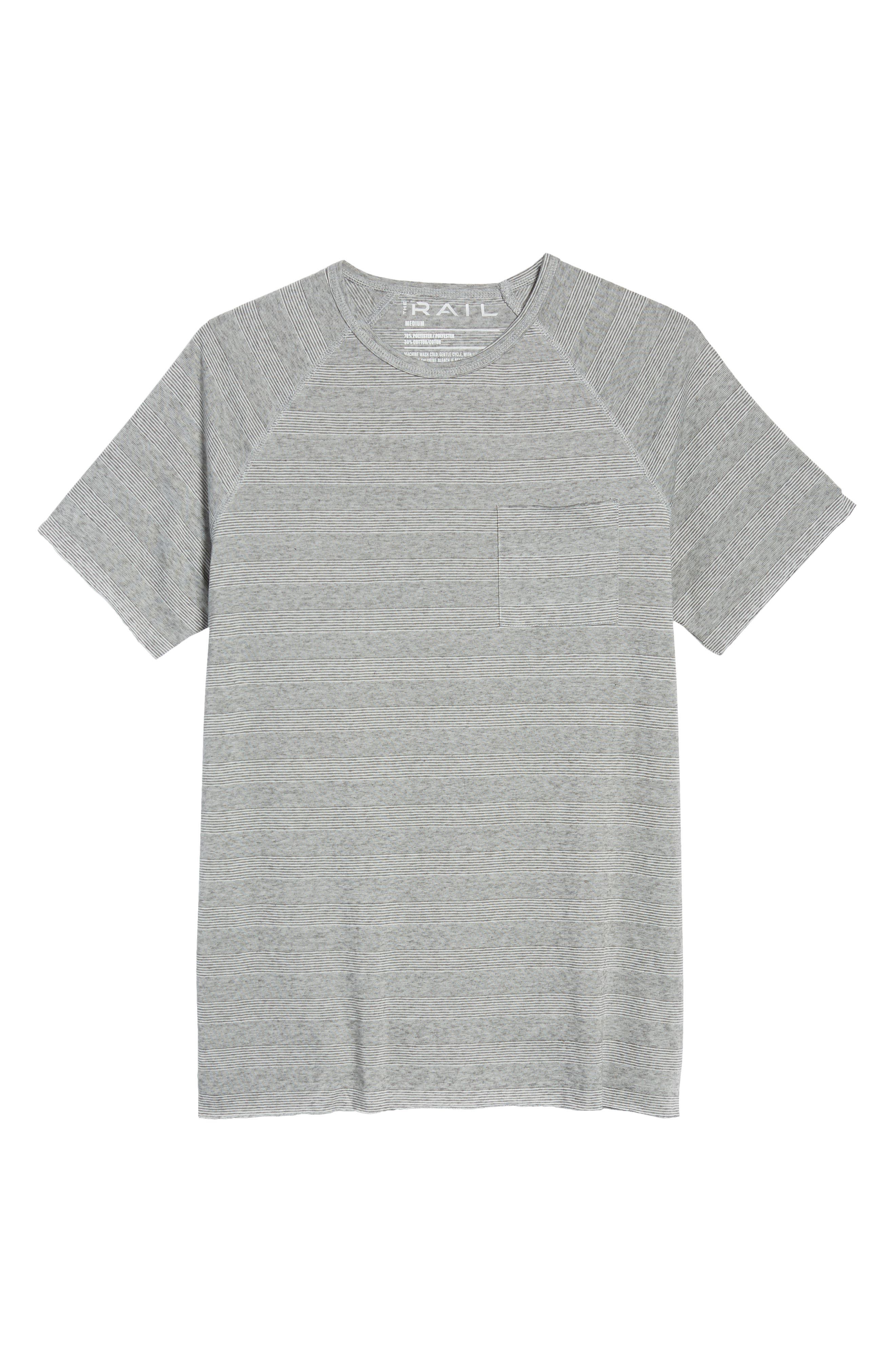 Stripe Pocket T-Shirt,                             Alternate thumbnail 6, color,                             030