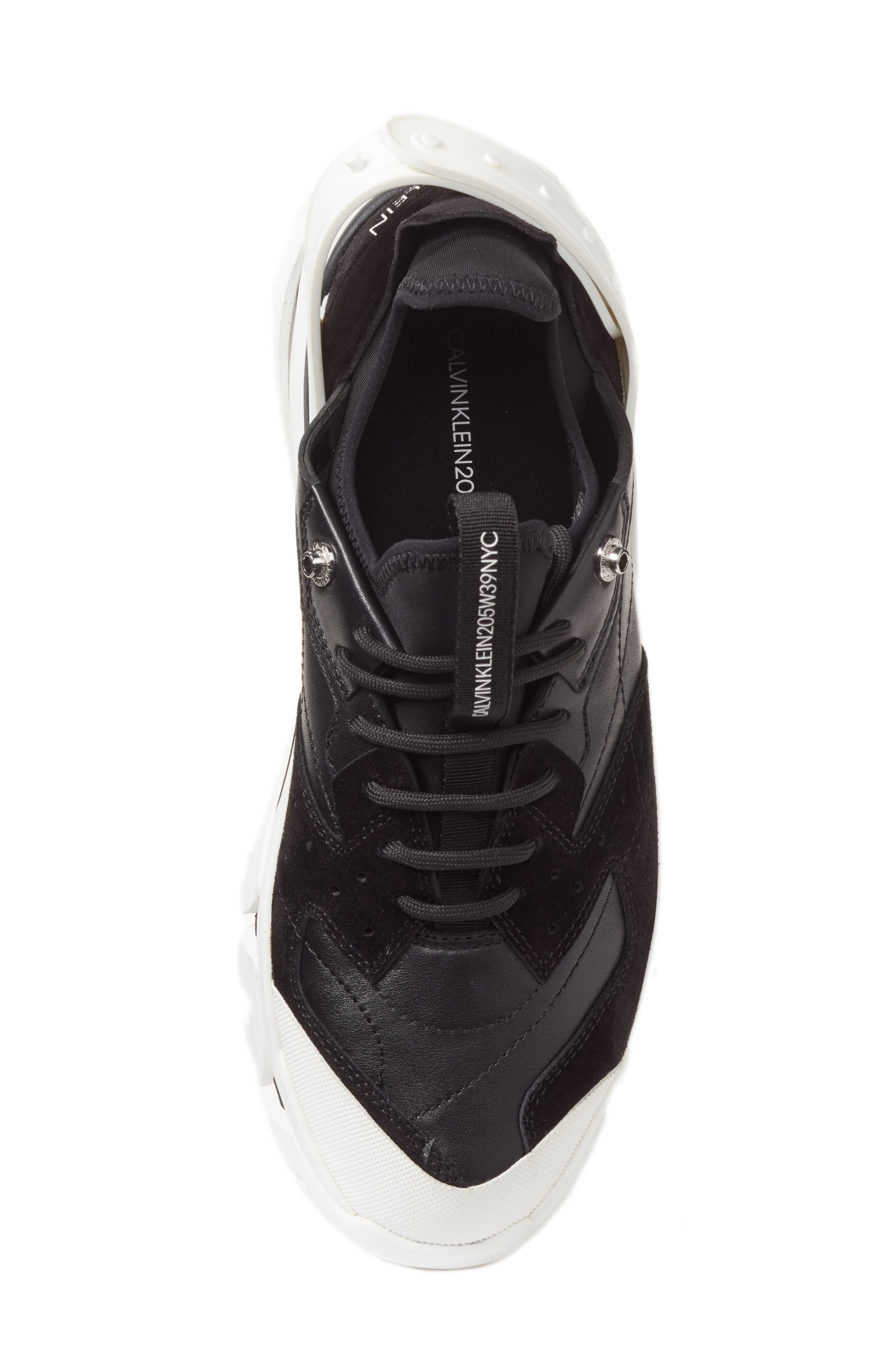 205W39NYC Carla Sneaker,                             Alternate thumbnail 5, color,                             WHITE/ BLACK