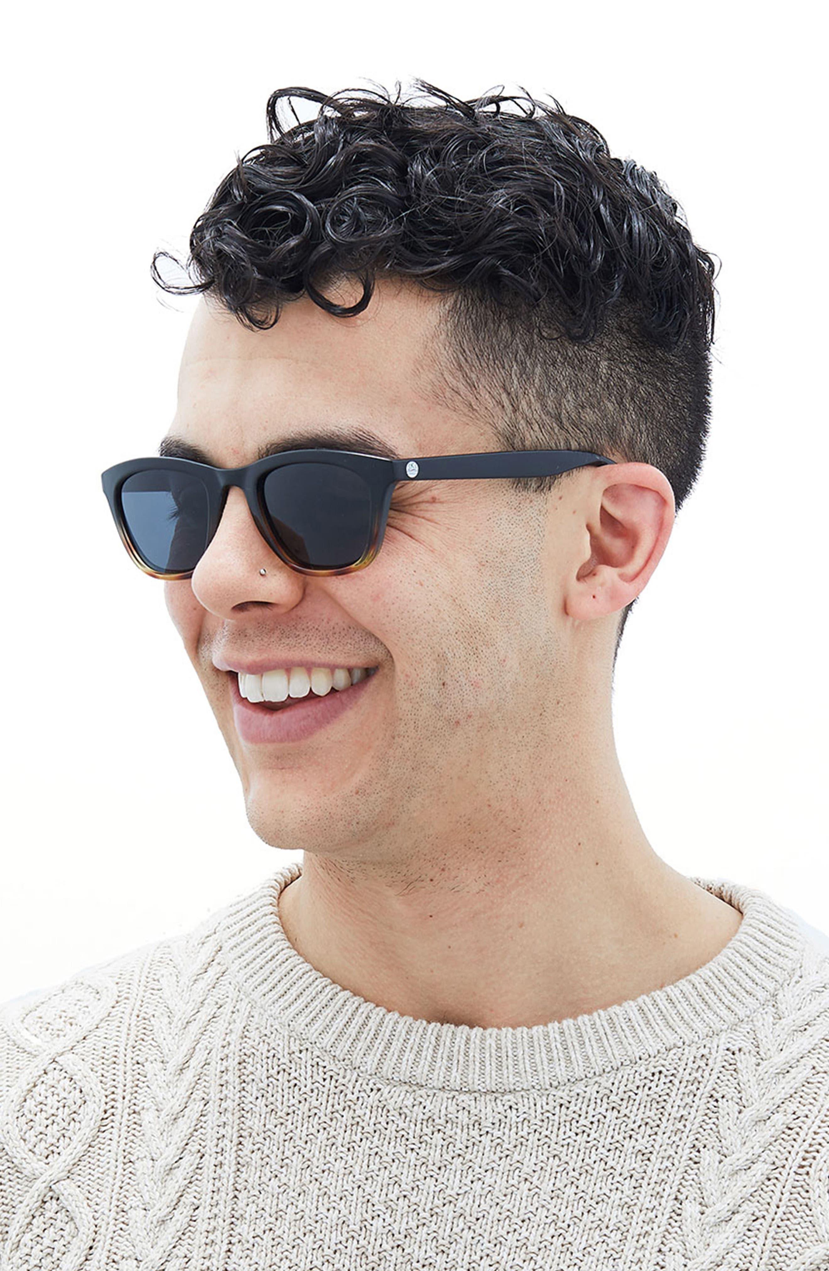 Manresa 49mm Polarized Sunglasses,                             Alternate thumbnail 4, color,                             BLACK TORTOISE SLATE