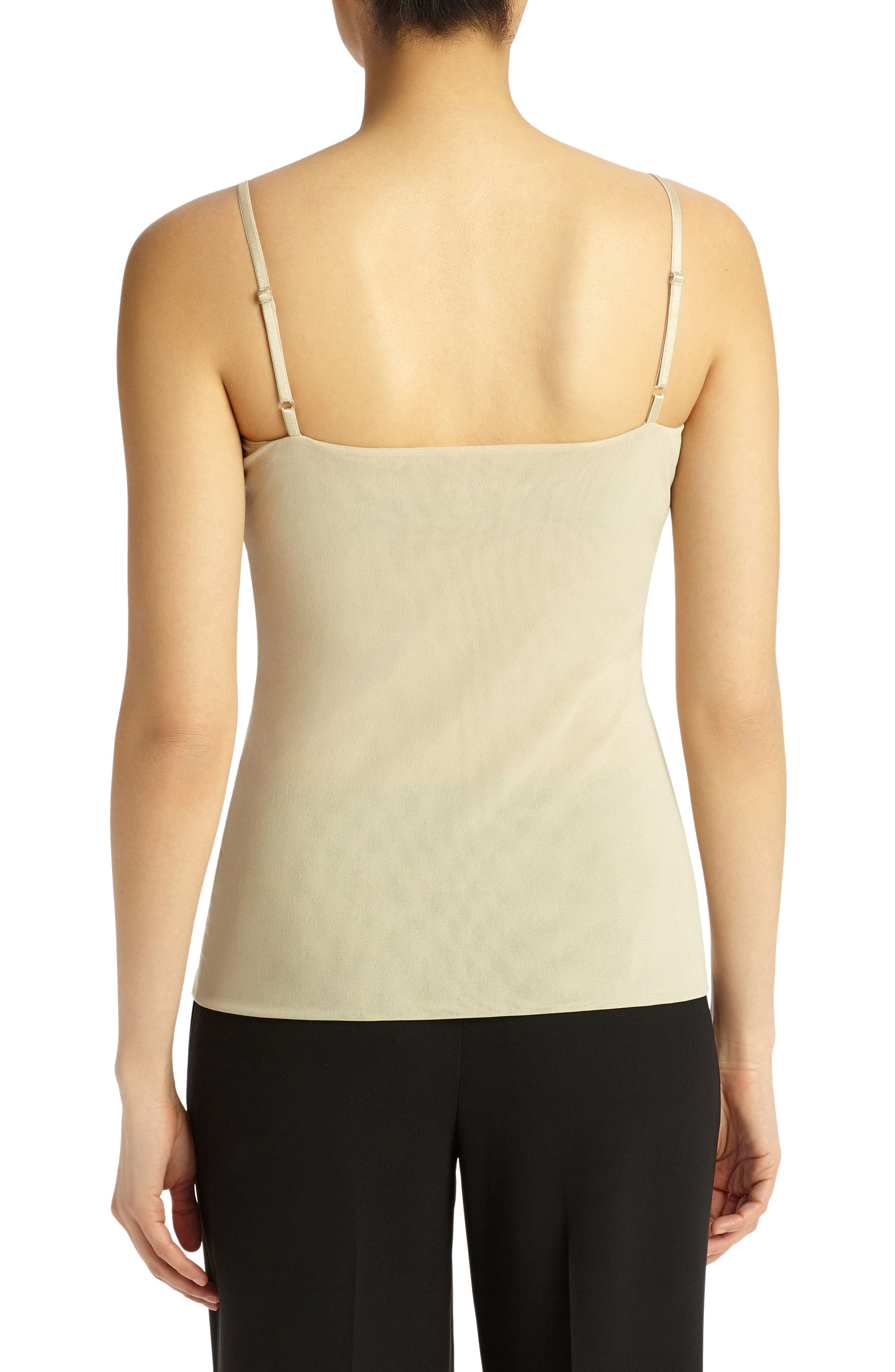 LAFAYETTE 148 NEW YORK,                             Mesh Jersey Camisole,                             Alternate thumbnail 2, color,                             KHAKI
