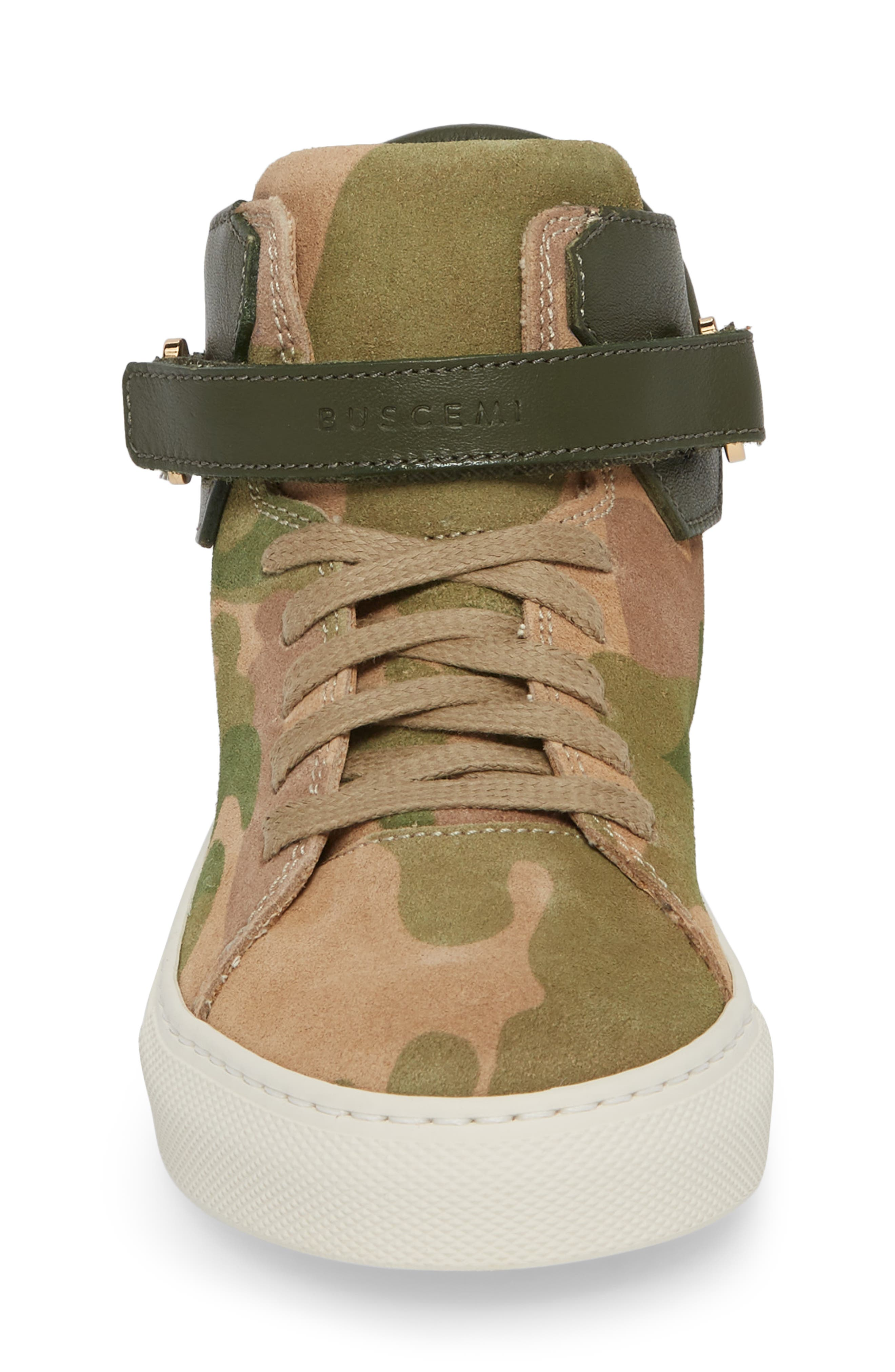 Suede High Top Sneaker,                             Alternate thumbnail 4, color,                             CAMO SUEDE