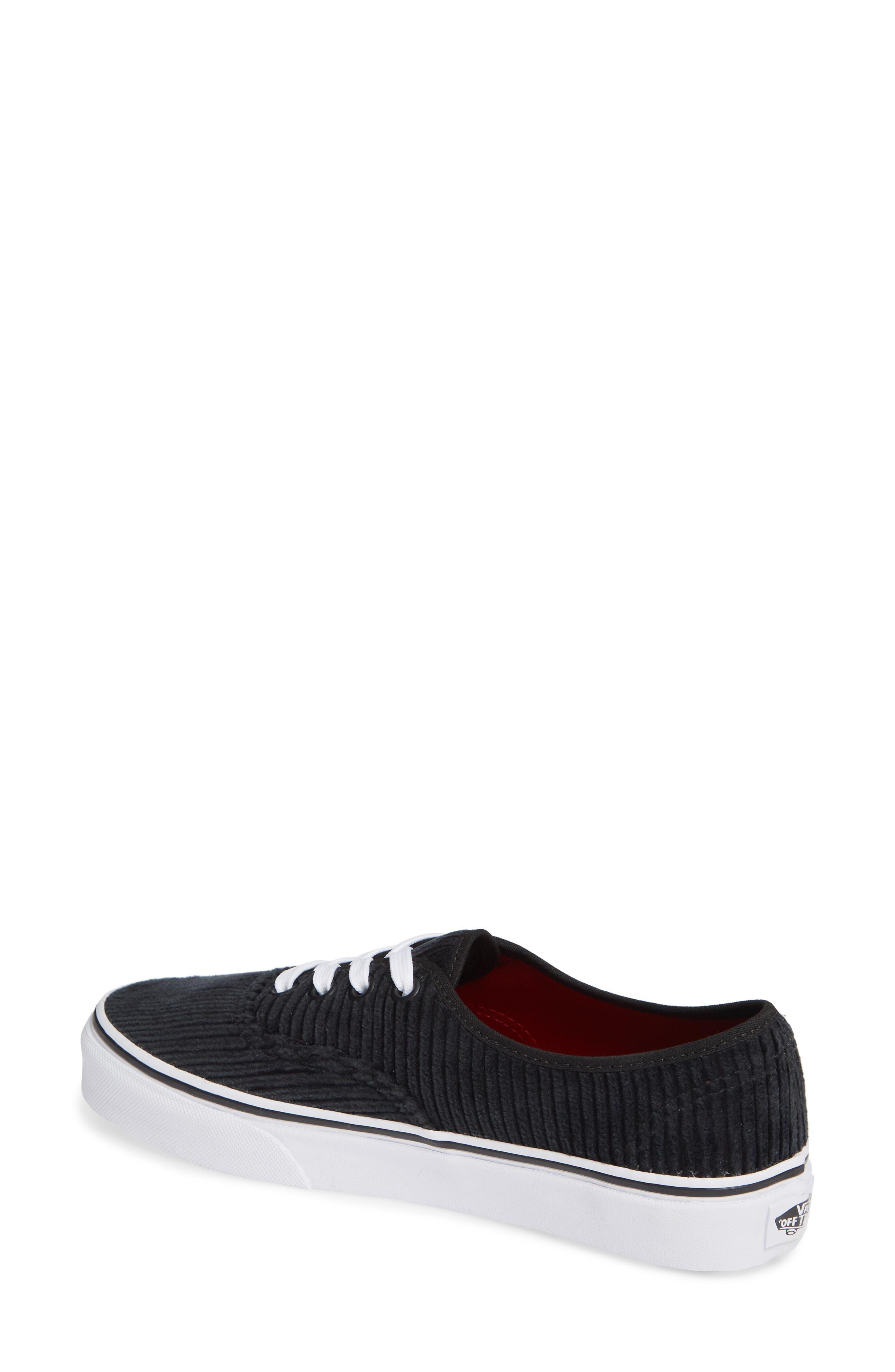 UA Authentic Design Assembly Sneaker,                             Alternate thumbnail 2, color,                             BLACK/ TRUE WHITE