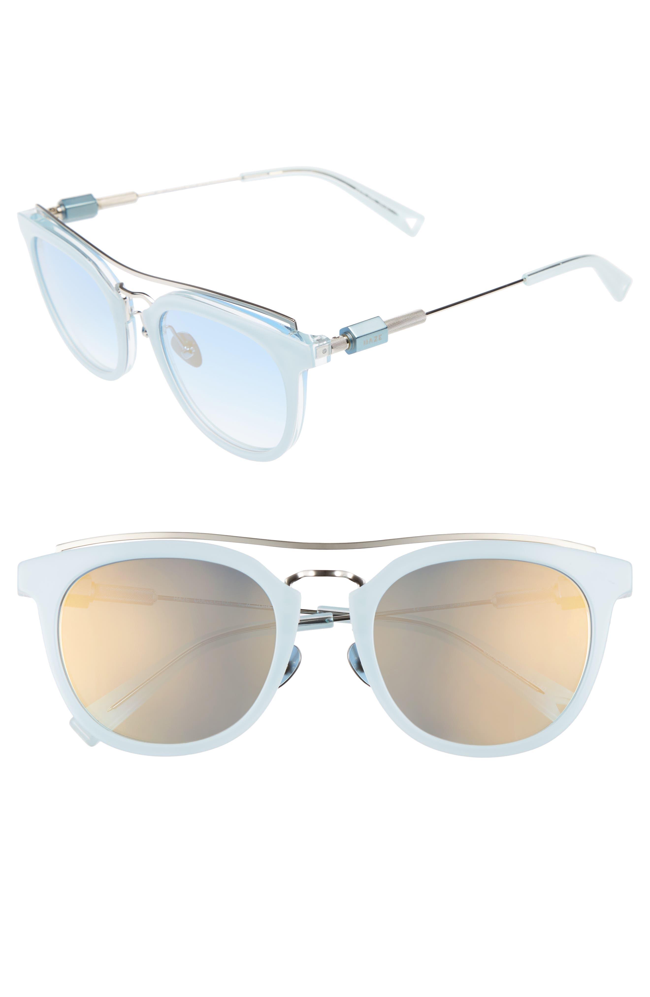 Zeal 52mm Aviator Sunglasses,                             Main thumbnail 3, color,