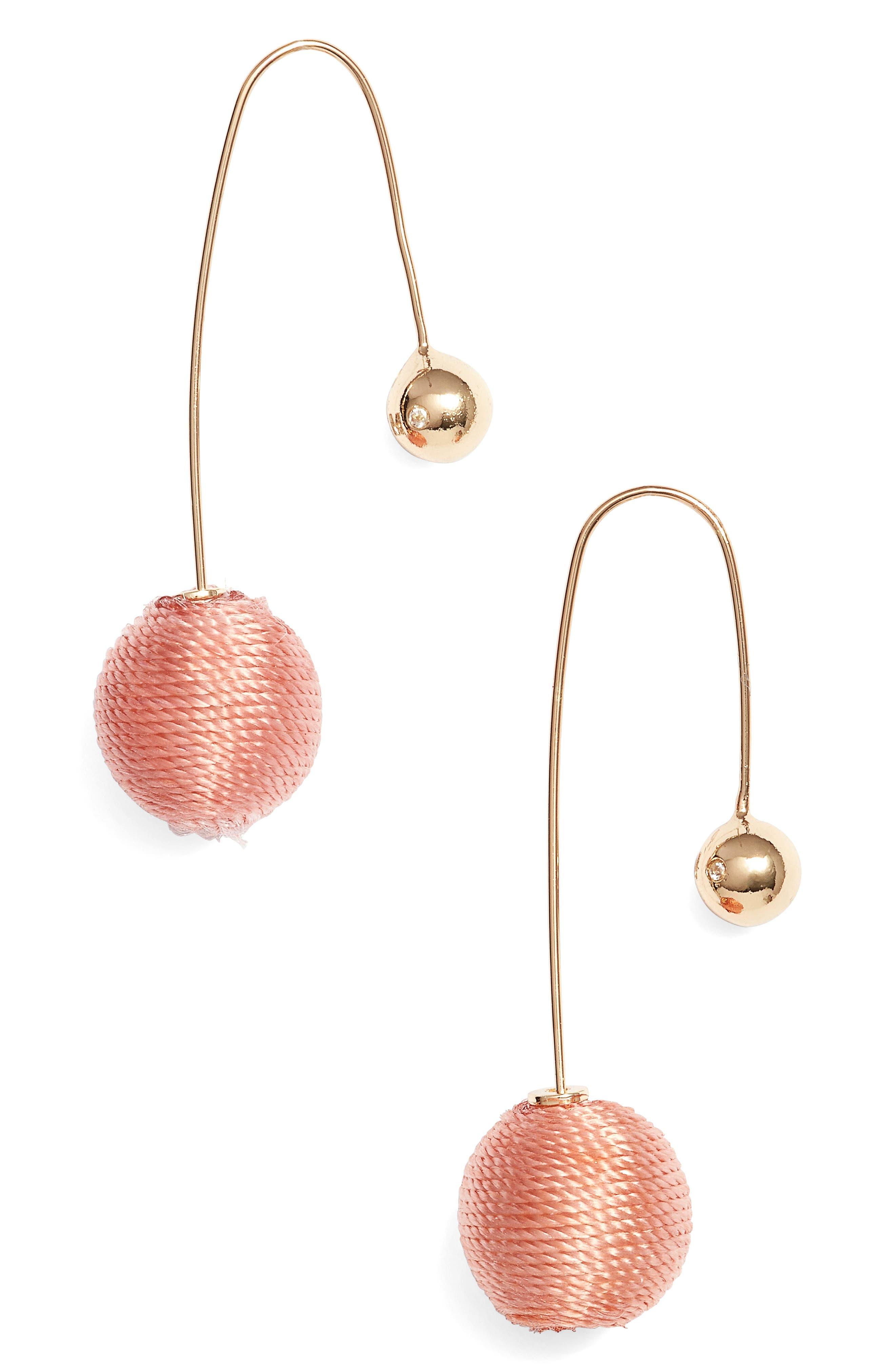 Contrast Sphere Threader Earrings,                             Main thumbnail 2, color,