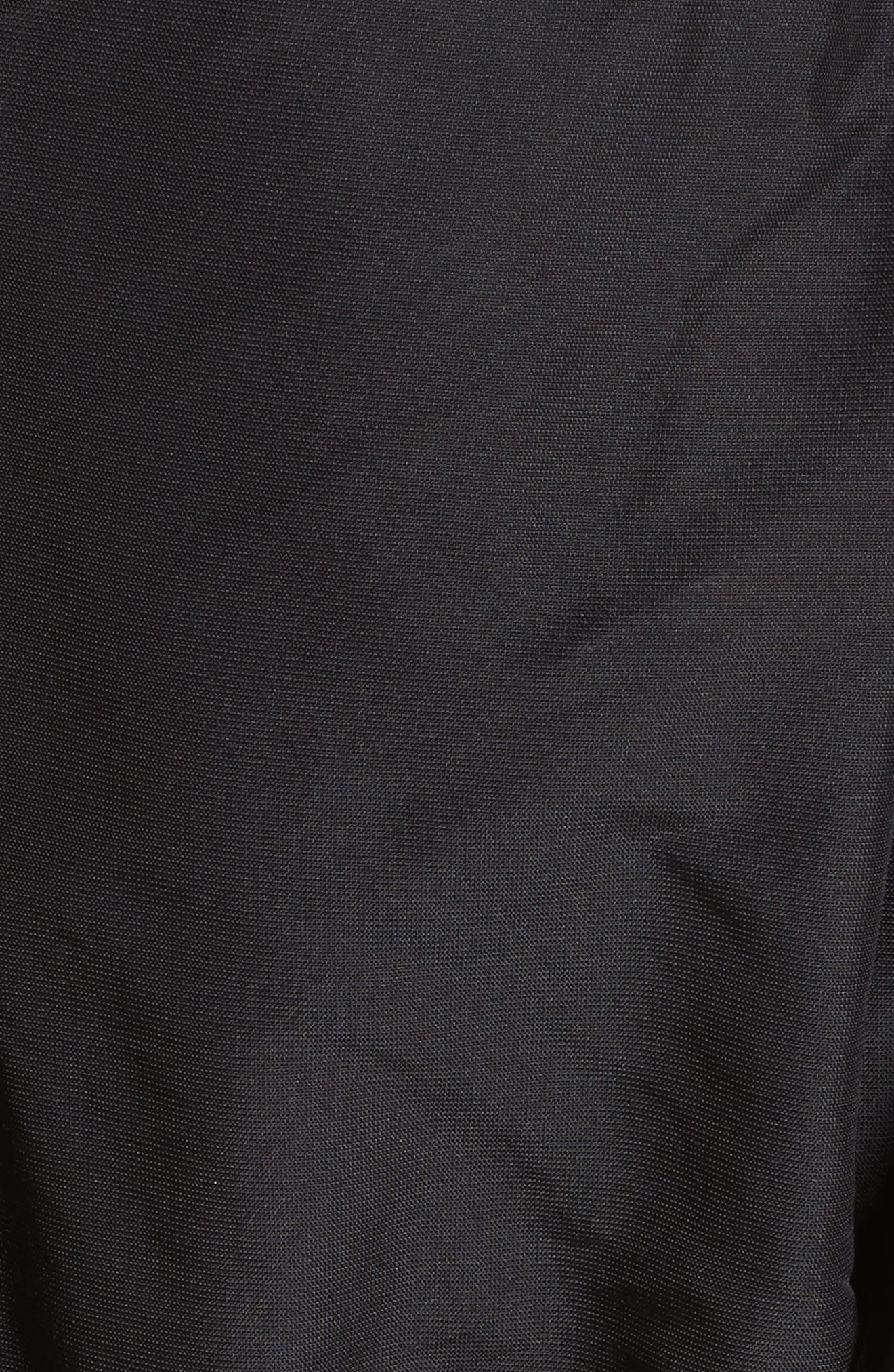 Cold Shoulder Drawstring Dress,                             Alternate thumbnail 5, color,                             001