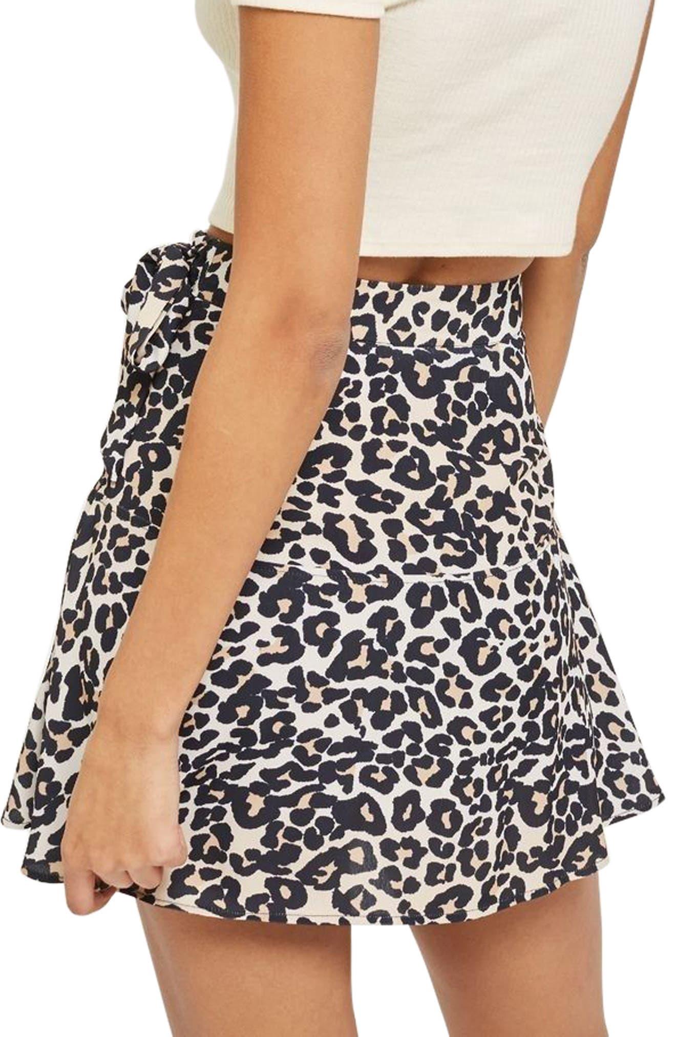 Leopard Print Miniskirt,                             Alternate thumbnail 2, color,                             211